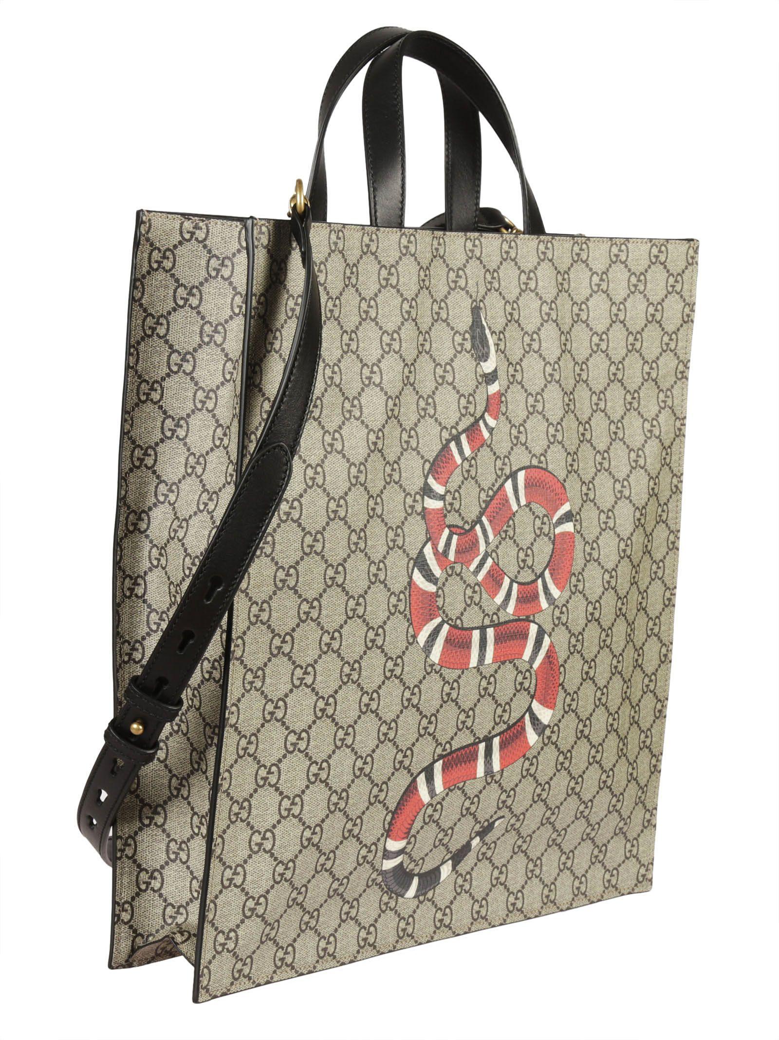 7bb205a92919 Gucci Gucci Snake Print GG Supreme Tote - Multicolor - 6622295