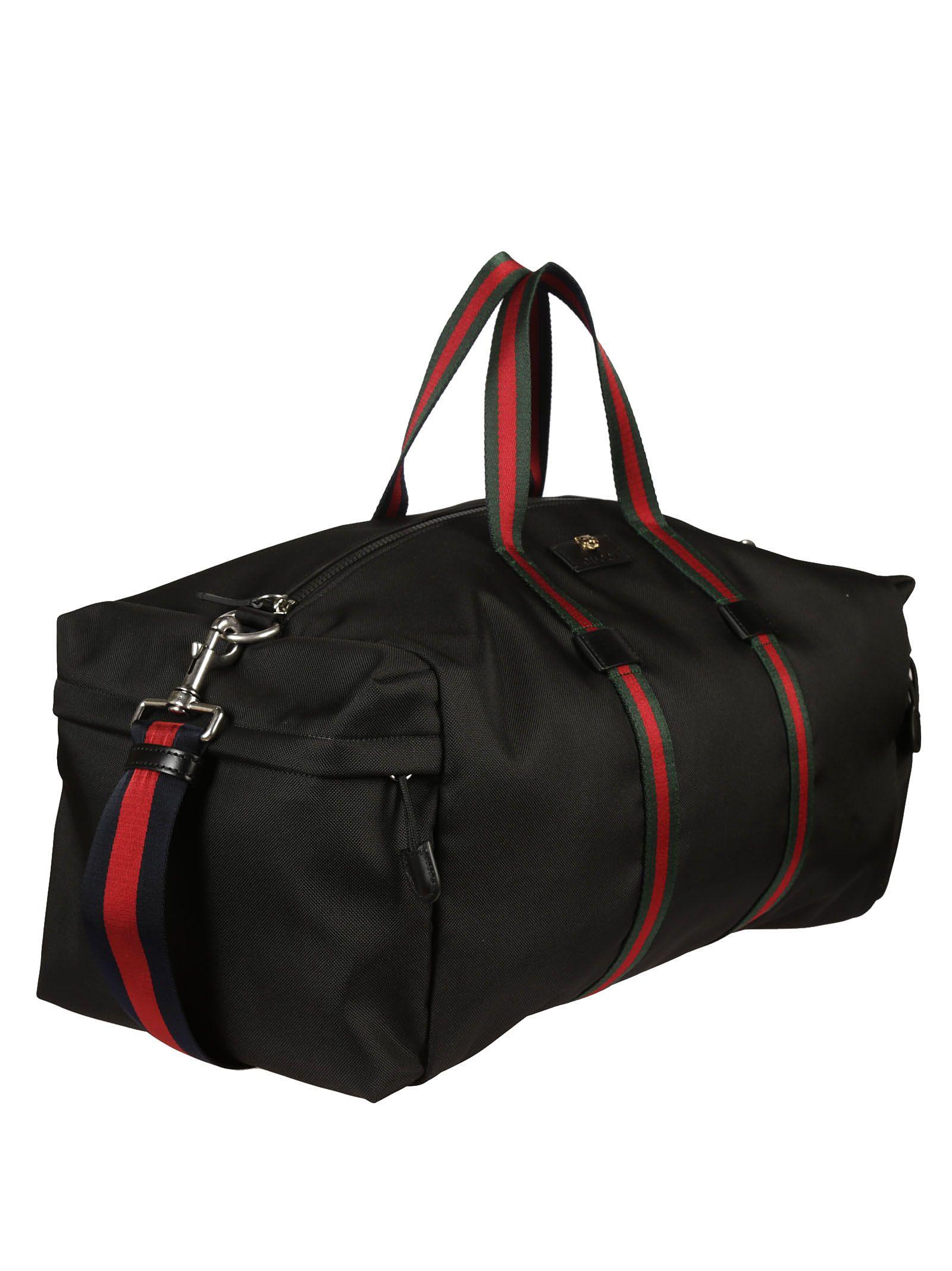 fd7aec15d9a7 Gucci Gucci Technical Canvas Duffle Bag - Black - 6622309