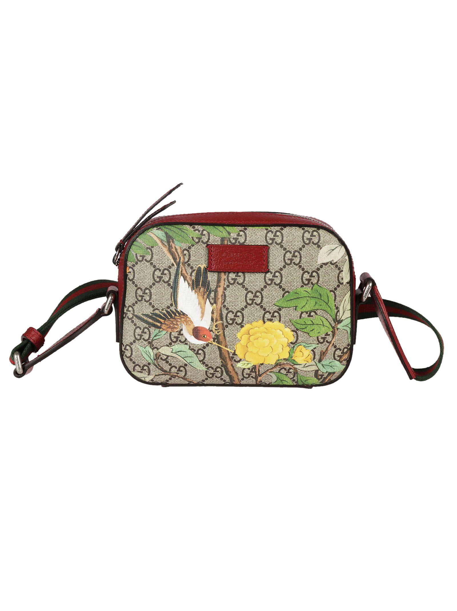 97d55c653a8 Gucci Gucci Tian Print GG Supreme Shoulder Bag - Multicolor ...