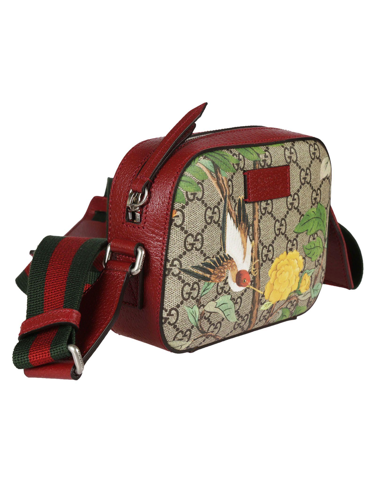 Gucci Gucci Tian Print GG Supreme Shoulder Bag - Multicolor ... 6e5a59c5439e1