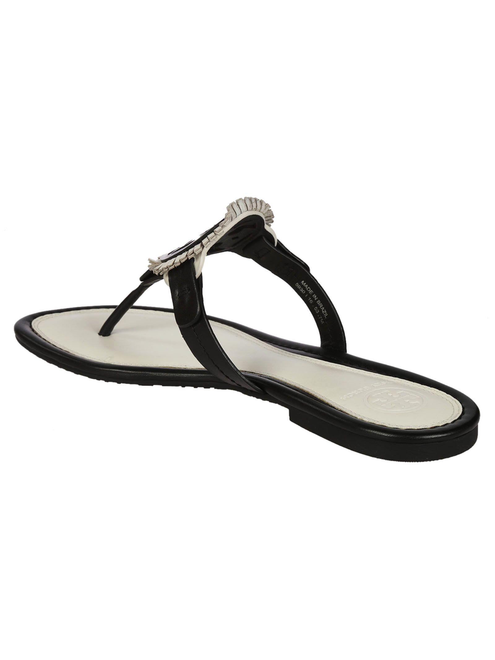 cf0c3f42ba2b Tory Burch Tory Burch Miller Fringe Flat Sandals - Black - 6703076 ...