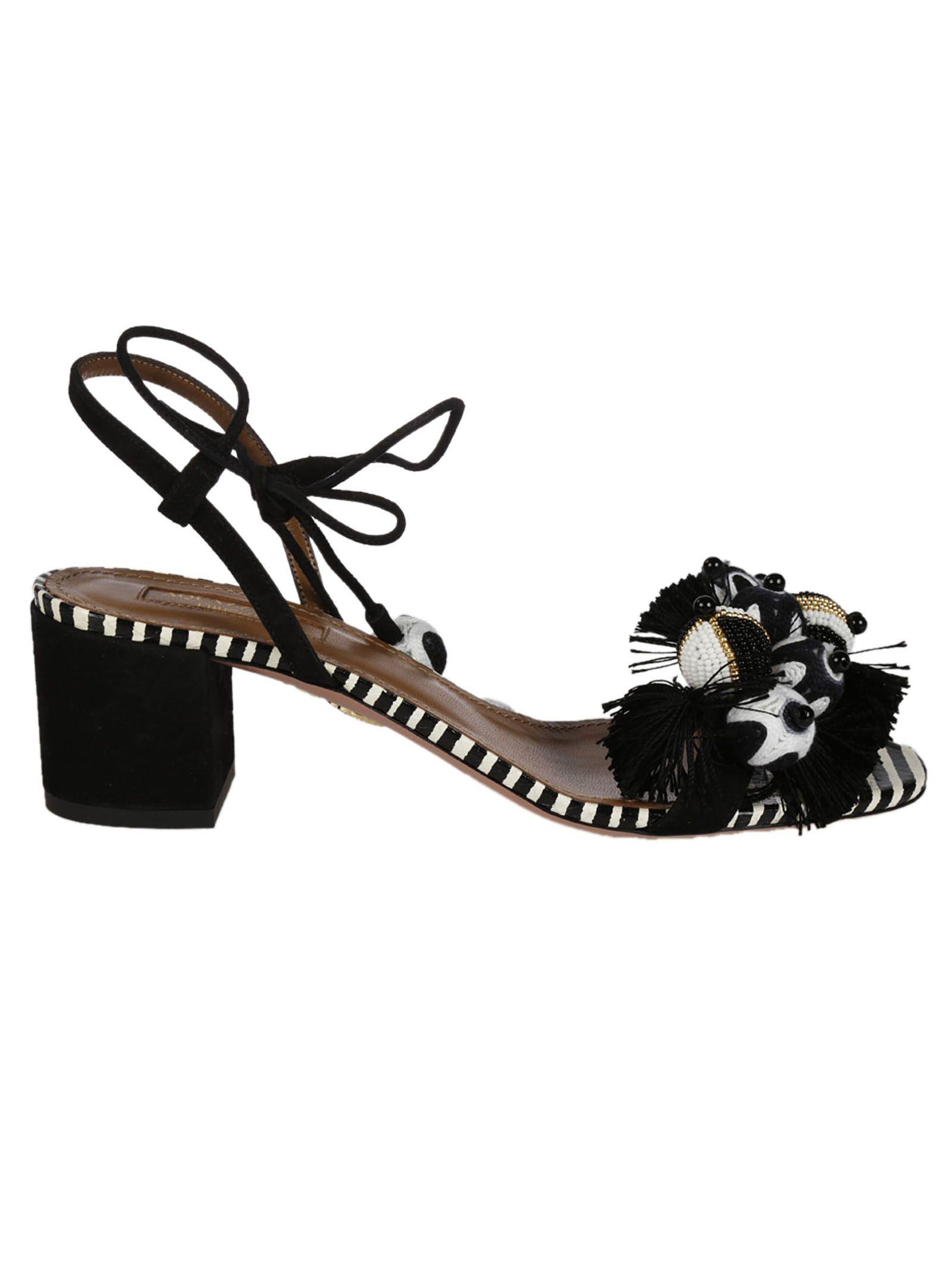 d0a460543 Aquazzura Tropicana Sandals - Black ...