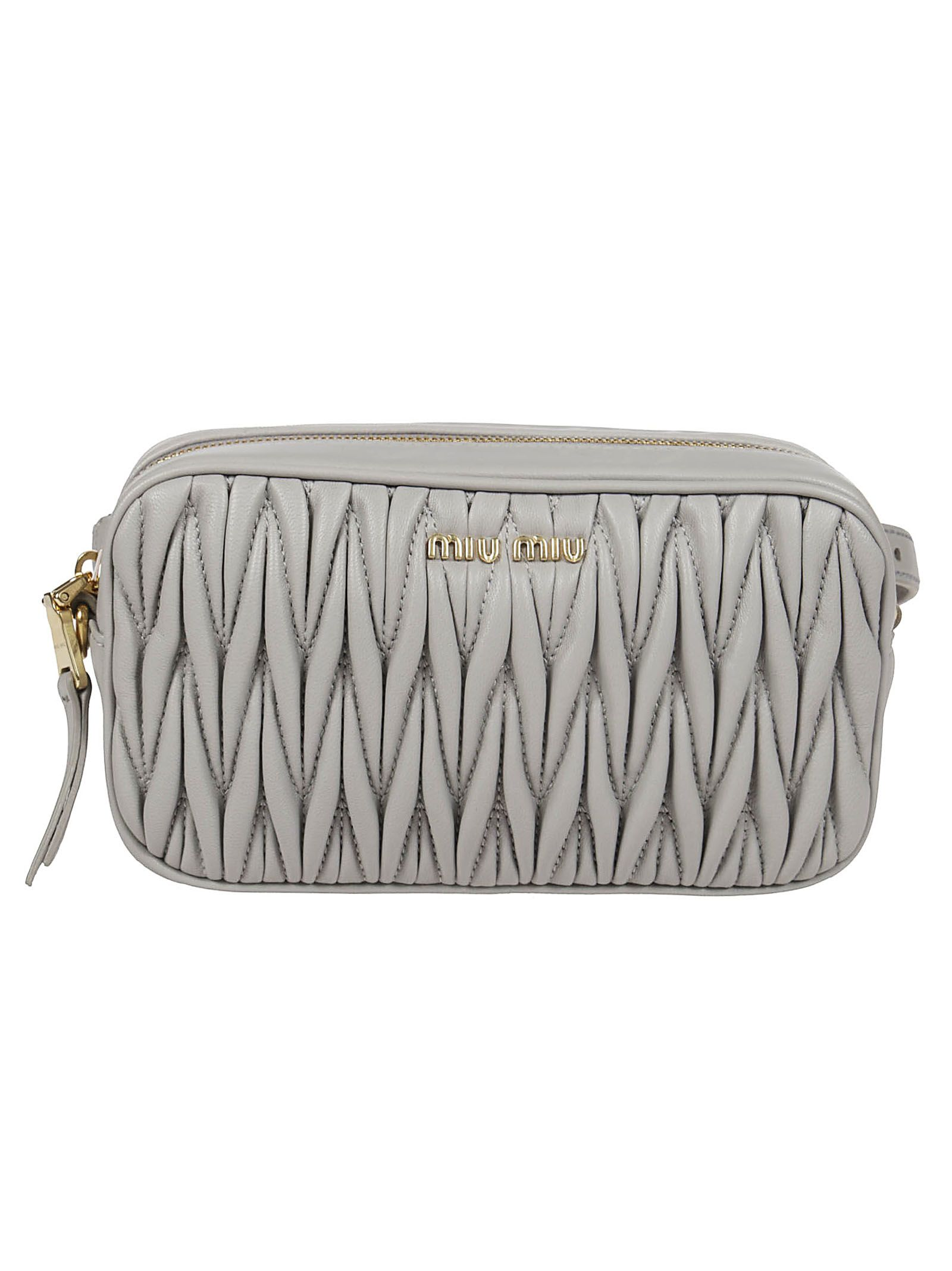 ffff152aaff1 Miu Miu Miu Miu Matelassé Mini Shoulder Bag - Grey - 10830994