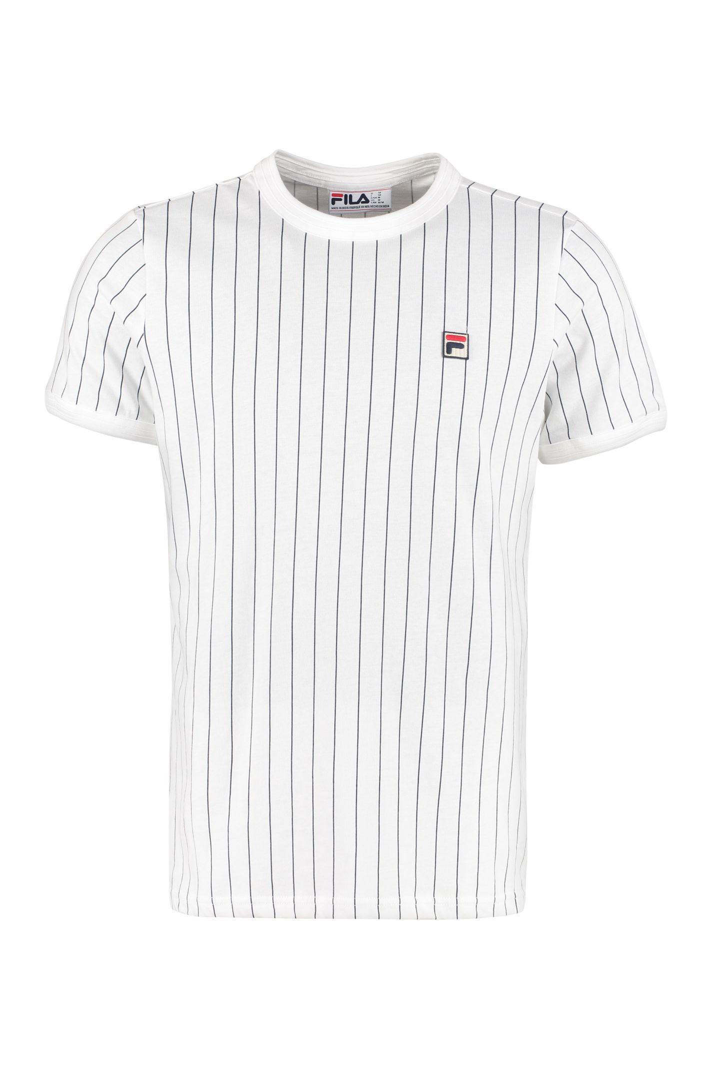 e105192016 Fila Fila Guilo Striped Cotton T-shirt - White - 10932203 | italist