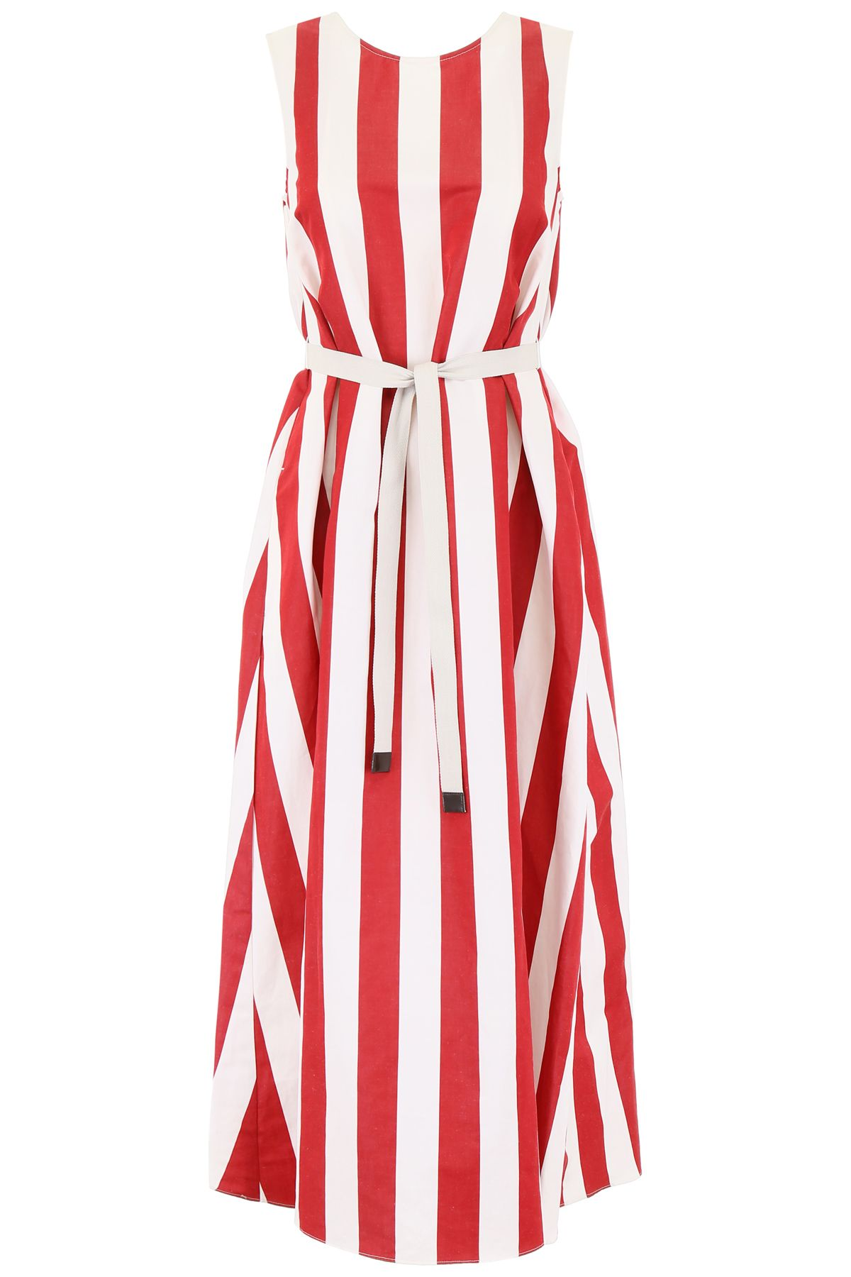 47cb45544fa Max Mara Studio Max Mara Studio Striped Boccale Dress - OFF WHITE ...