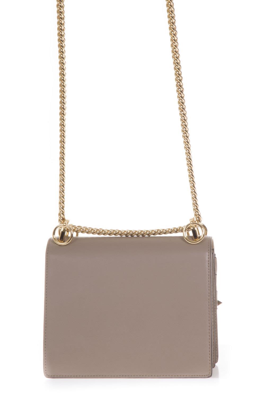 ab321fe5bf Fendi Fendi Kan I Taupe Leather Shoulder Bag - Brown - 10638476 ...