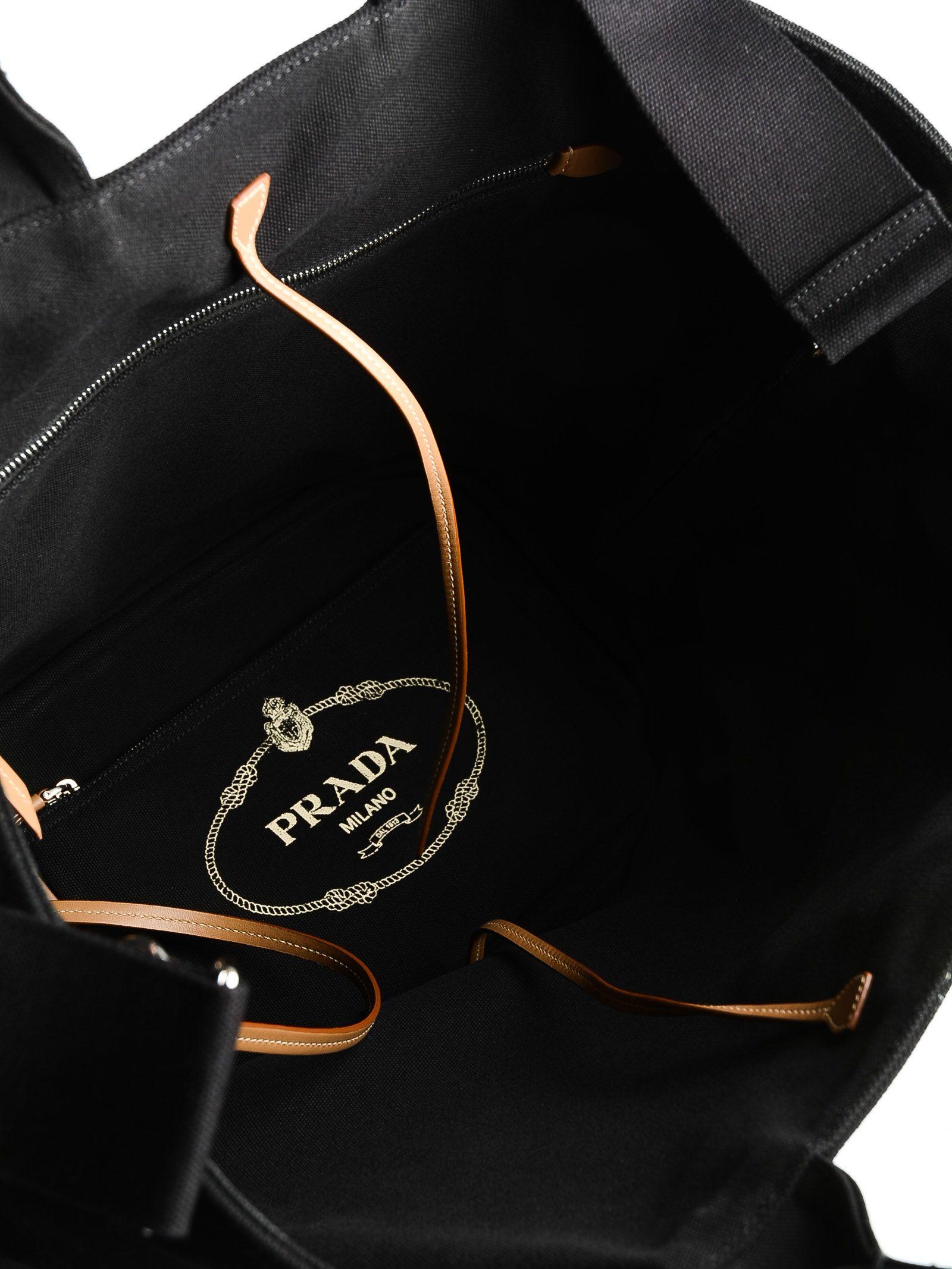 26e8780da9bea0 Prada Prada Logo Tote - Nero - 10781238 | italist