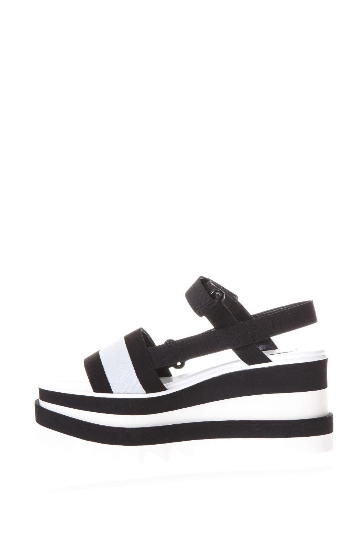 39f43724566 ... Stella McCartney Elyse Black And White Bands Sandals - White black