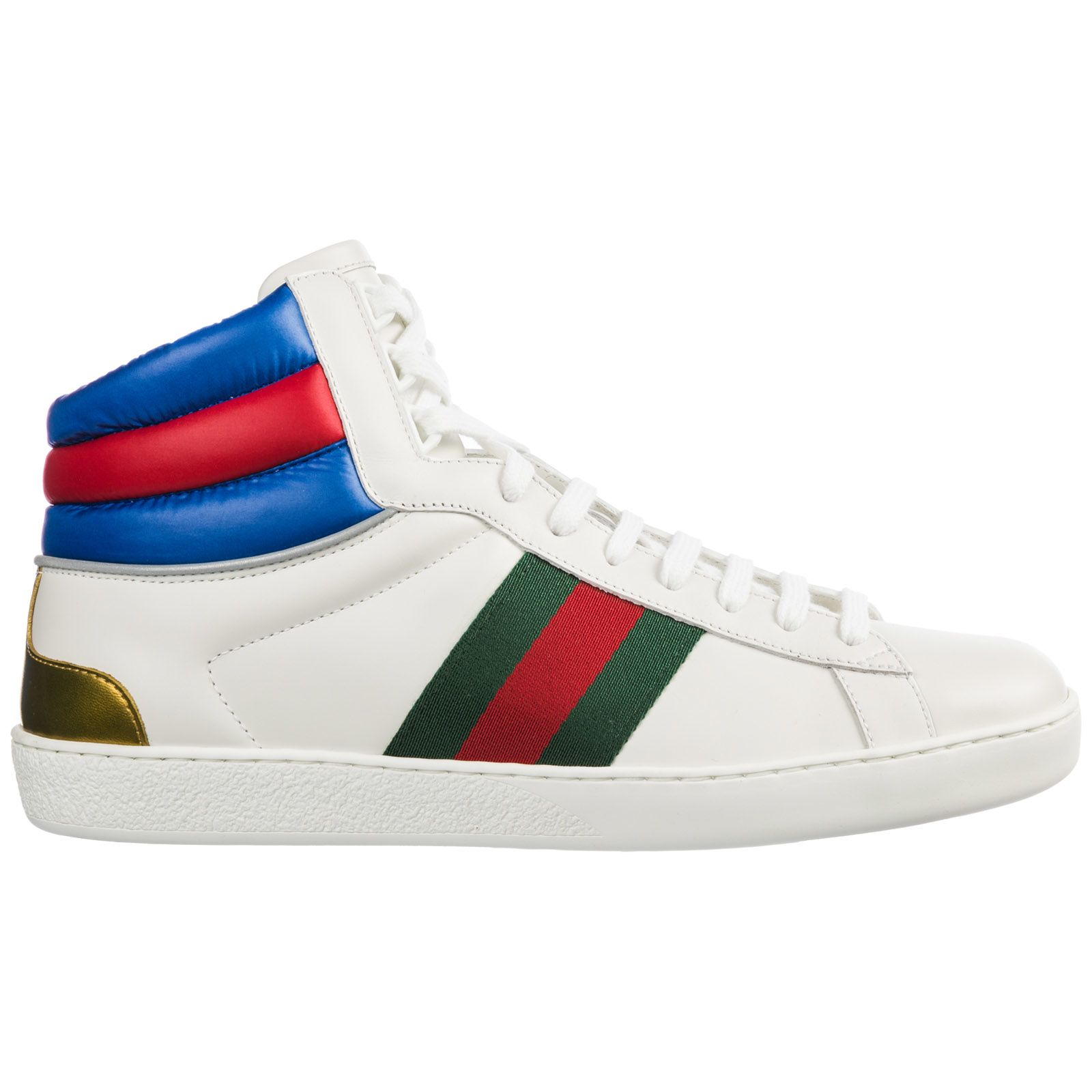 e1082e7ec3d0 Gucci Gucci Shoes High Top Leather Trainers Sneakers Ace - Bianco ...
