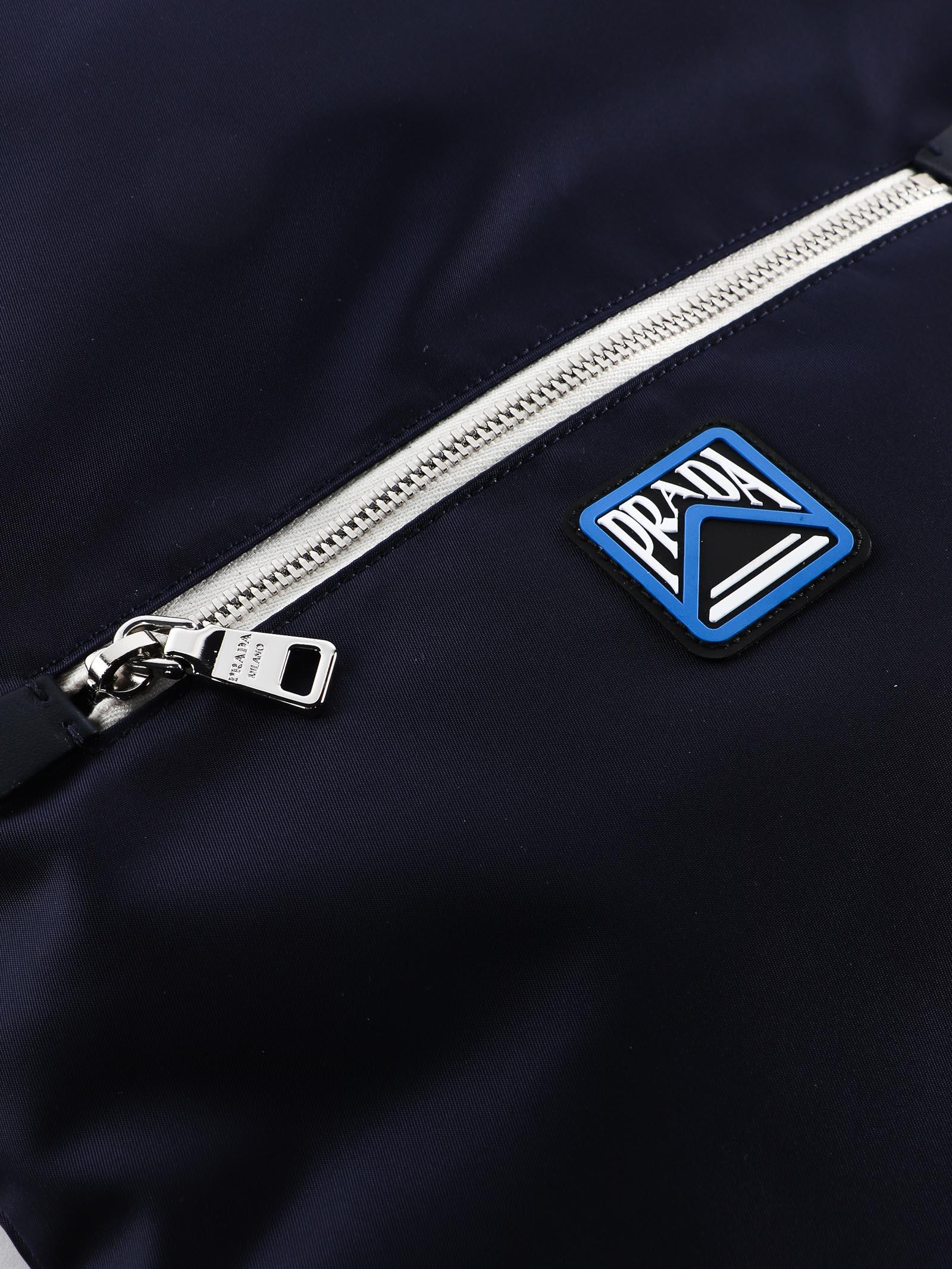 796b4cbc3e21 Prada Prada Drawstring Backpack - Baltico - 10795374 | italist