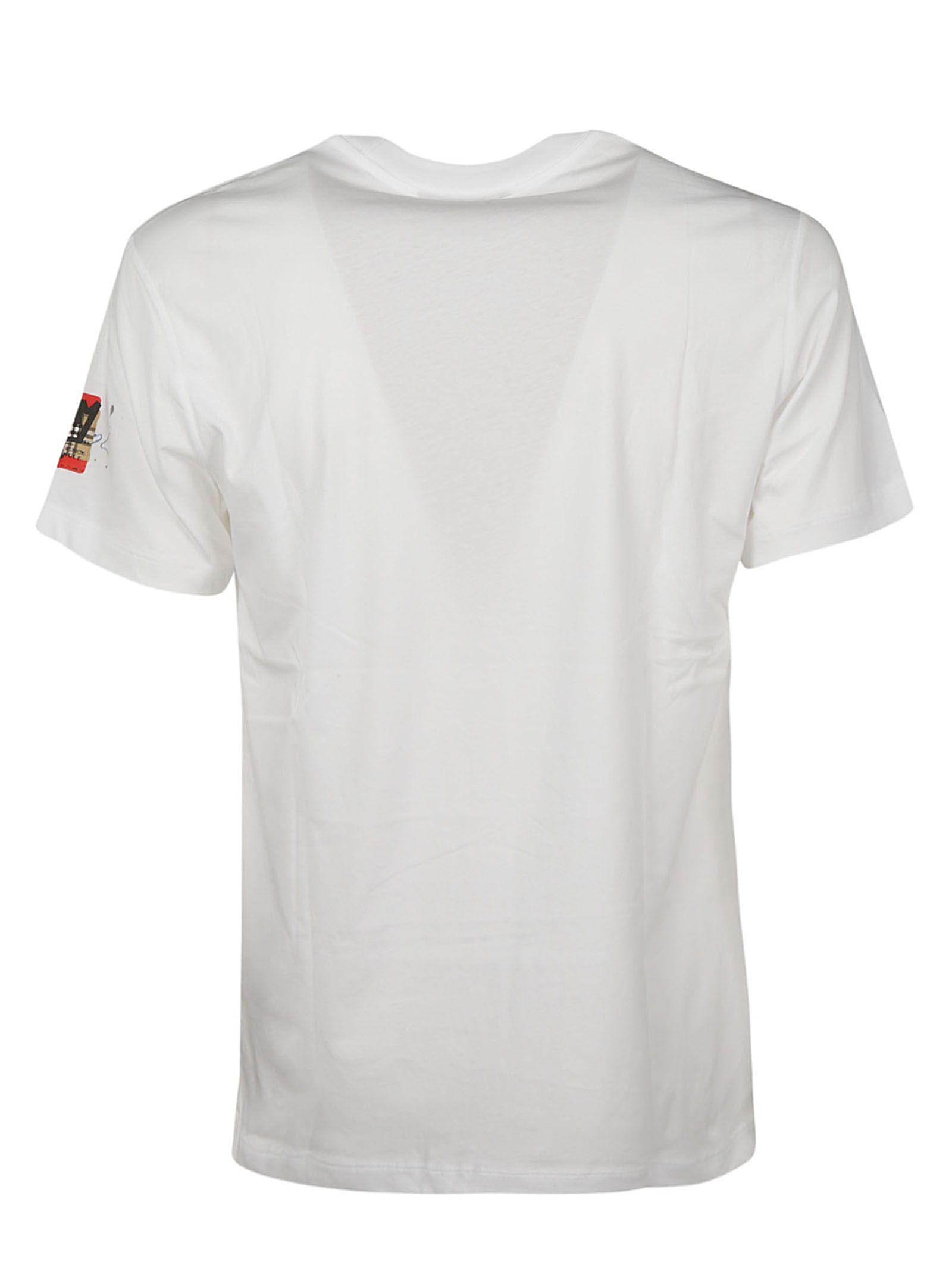 34f5120a5 Burberry Burberry Graffitied Ticket Print T-shirt - White - 10746299 ...
