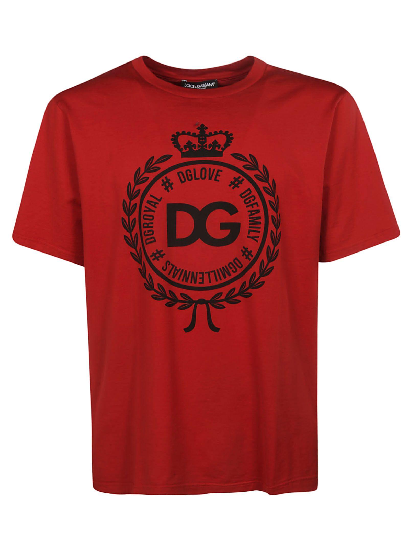 d791dff8ae89 Dolce   Gabbana Dolce   Gabbana Dg Crest Logo T-shirt - Red ...