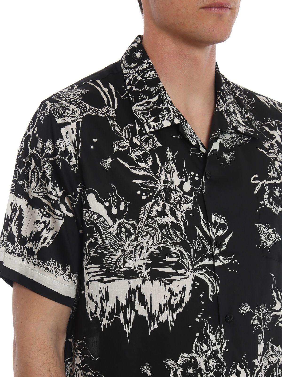 1307c4a5 Givenchy Givenchy Monster Print Hawaiian Shirt - Black - 10898667 ...