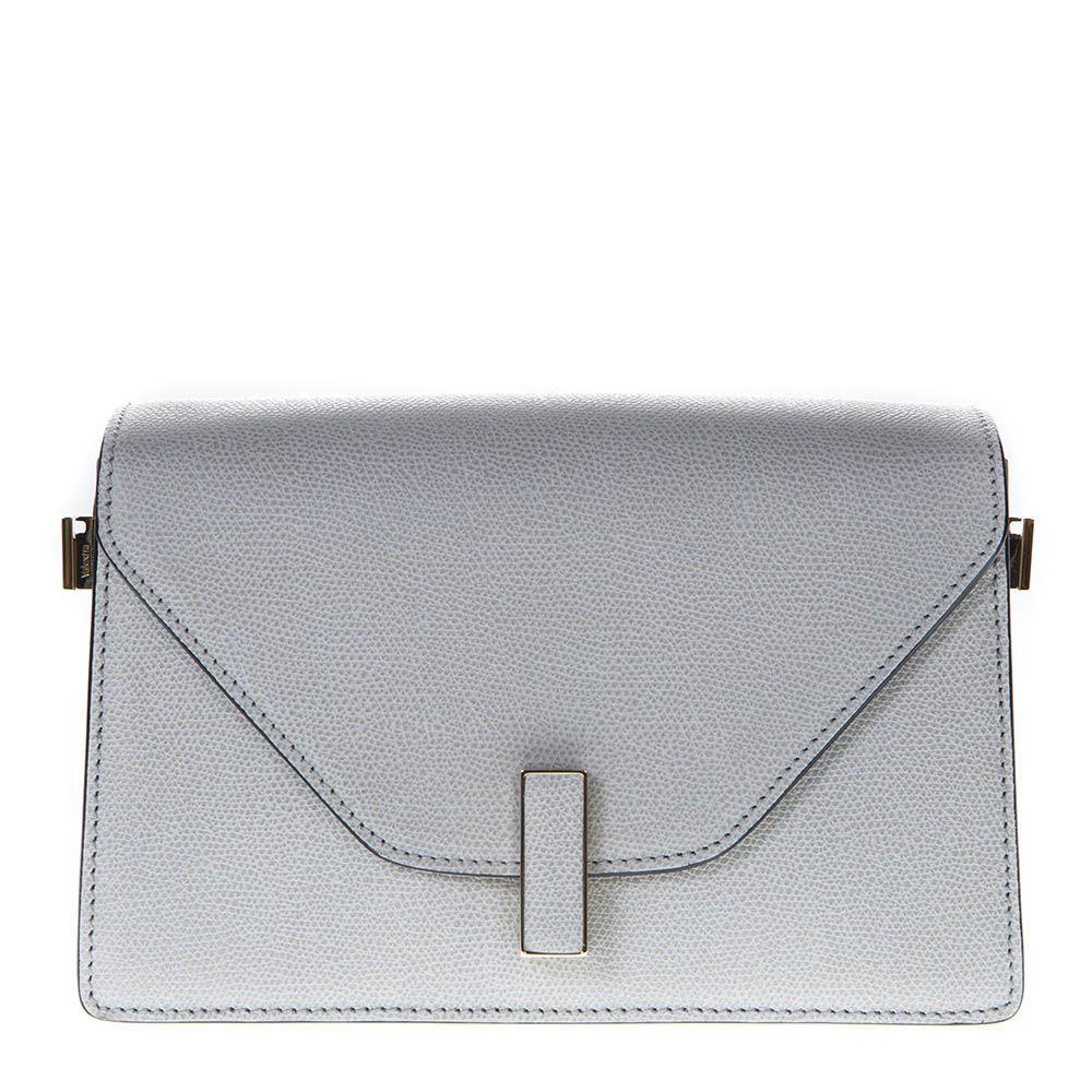 ff9ed2cbab Valextra Valextra Light Gray Twist Lock Shoulder Bag In Leather ...