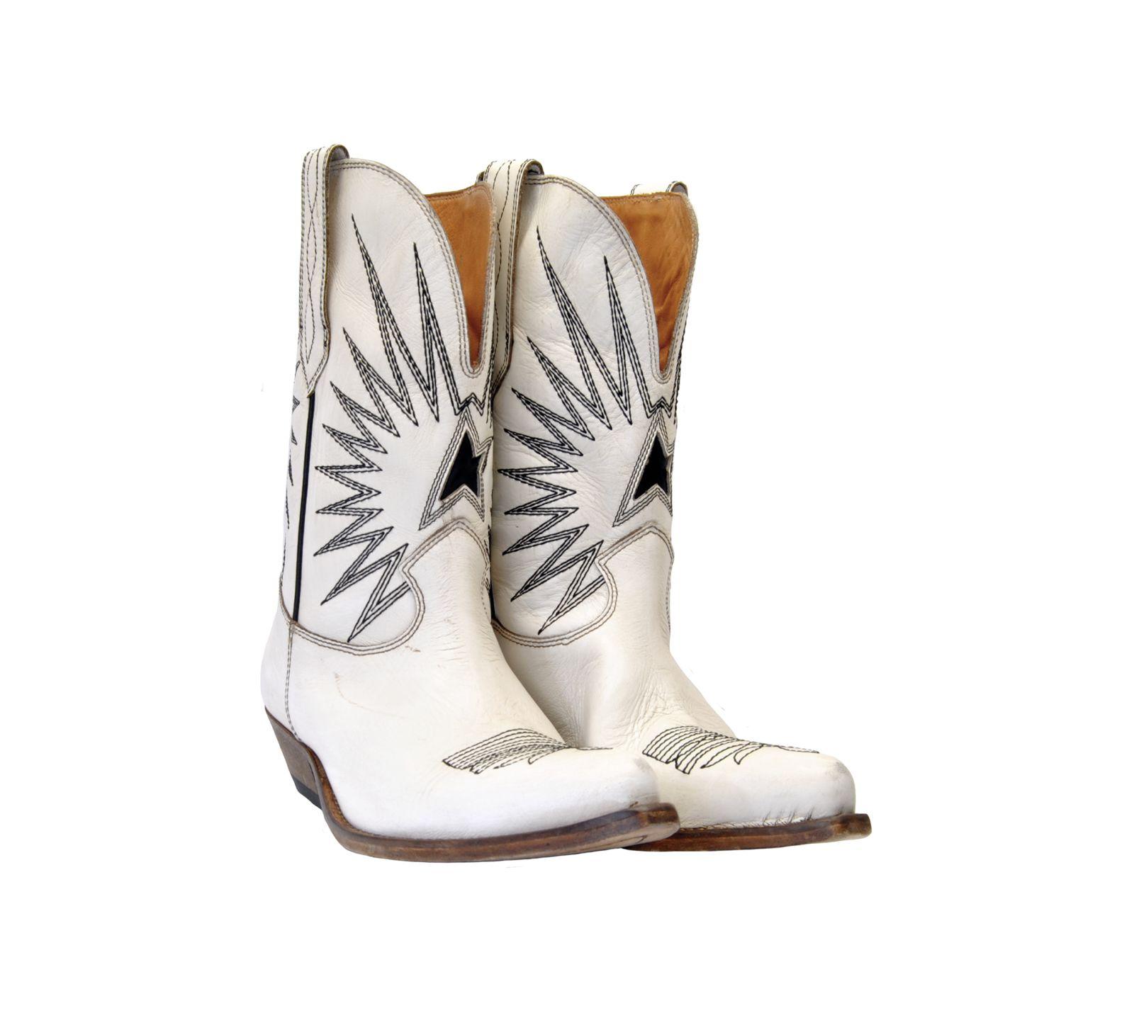 Golden Goose Golden Goose Wish Star Cowboy Boots - White - 10834083 ... 484eee0ce0b