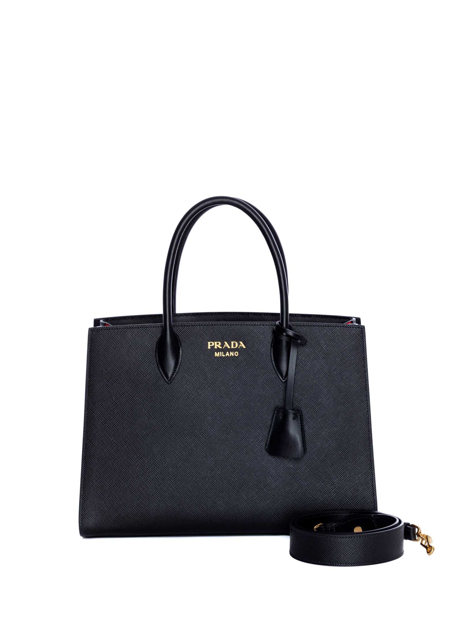 2f8fe98be4c8 Prada Prada Prada Saffiano Leather Tote Bag - NERO FUOCO - 10895330 ...