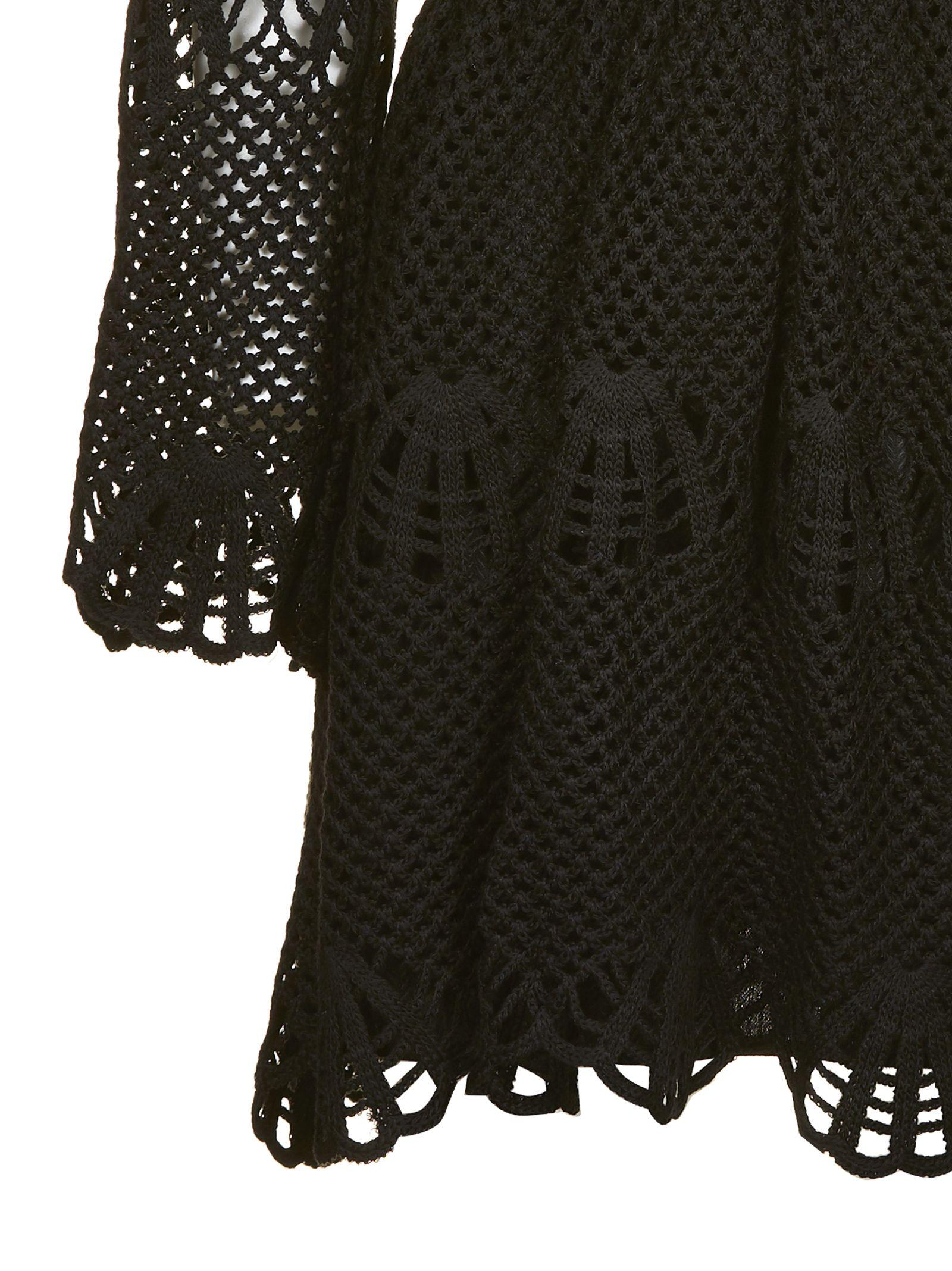 Self 10699428Italist Dress Netted Black Portrait jqc5L34AR