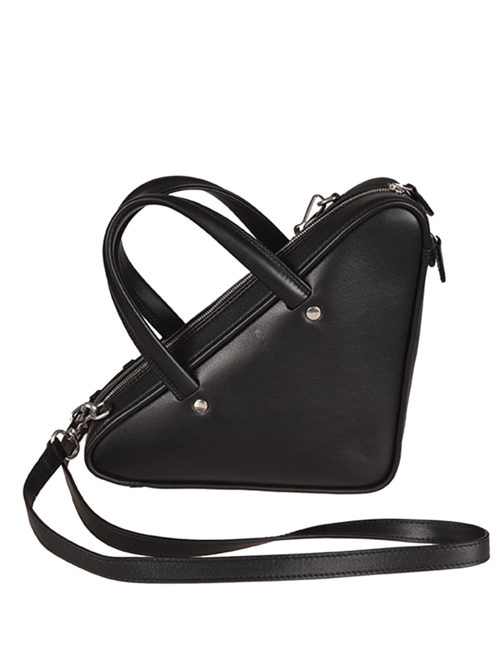 c14313382584 ... Balenciaga Xs Triangle Shoulder Bag - Noir blanc ...