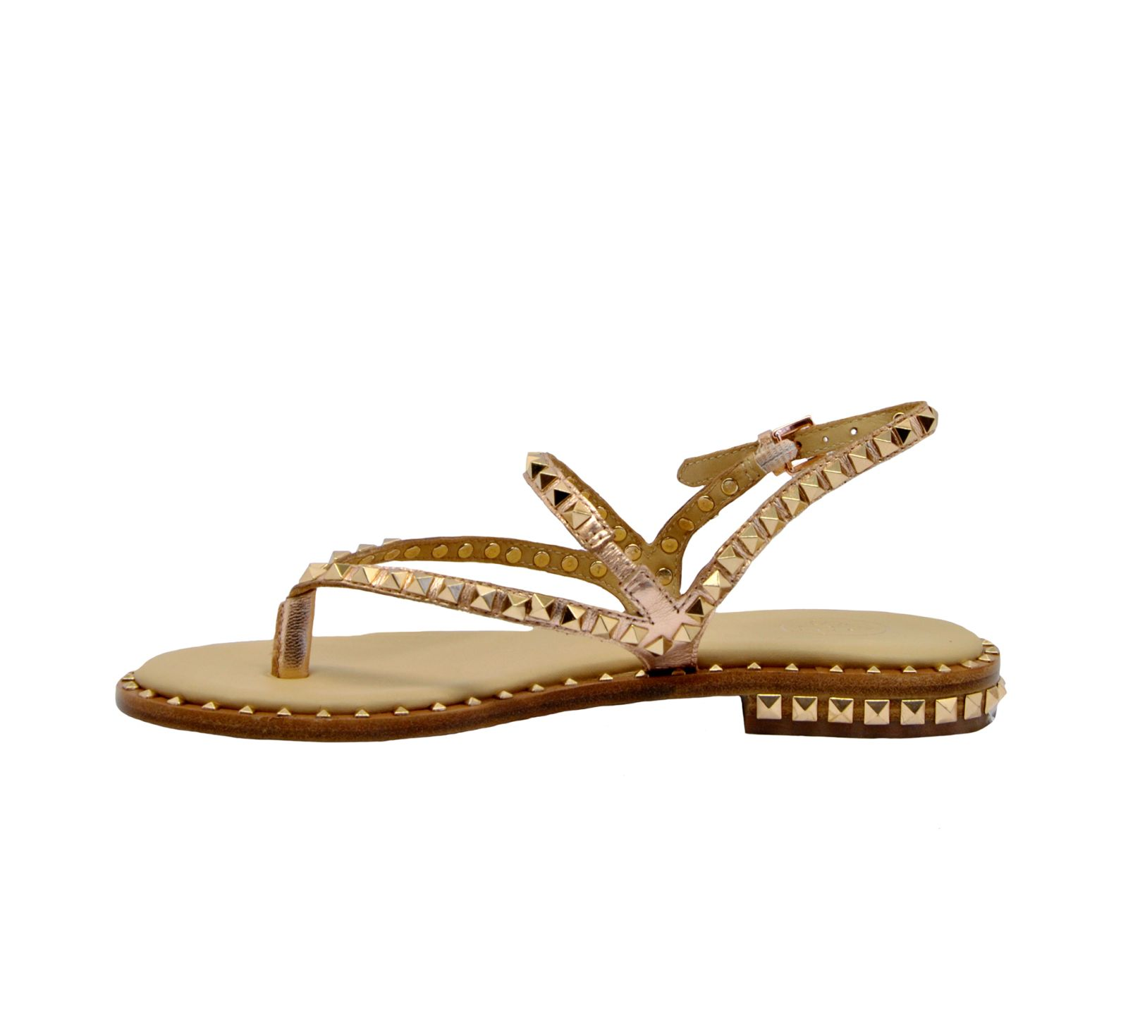 ee4cc95c7e46 Ash Ash Peps Studded Strappy Sandals - Rame - 10859268
