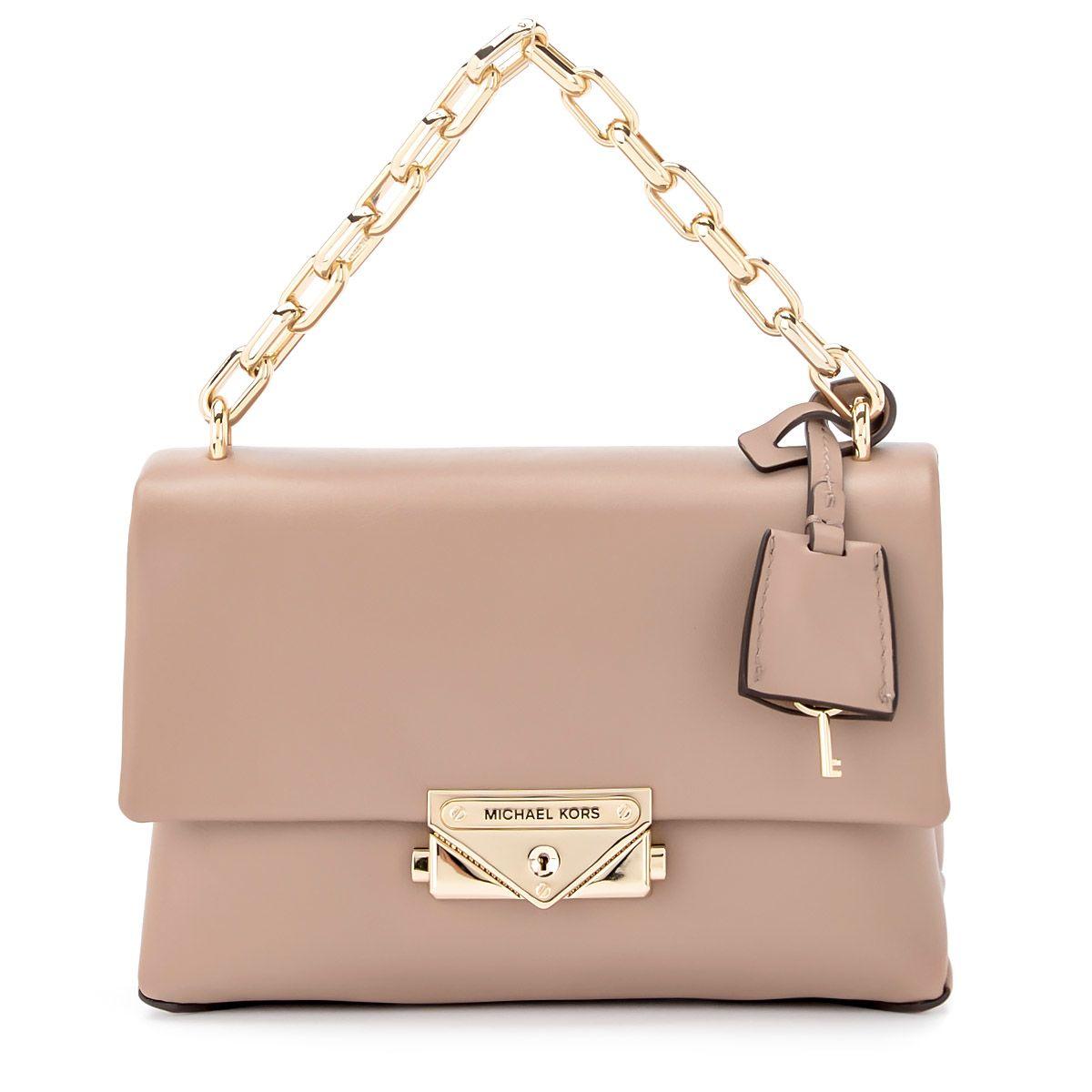 f82157dd30ff Michael Kors Michael Kors Cece Xs Truffle Leather Shoulder Bag ...