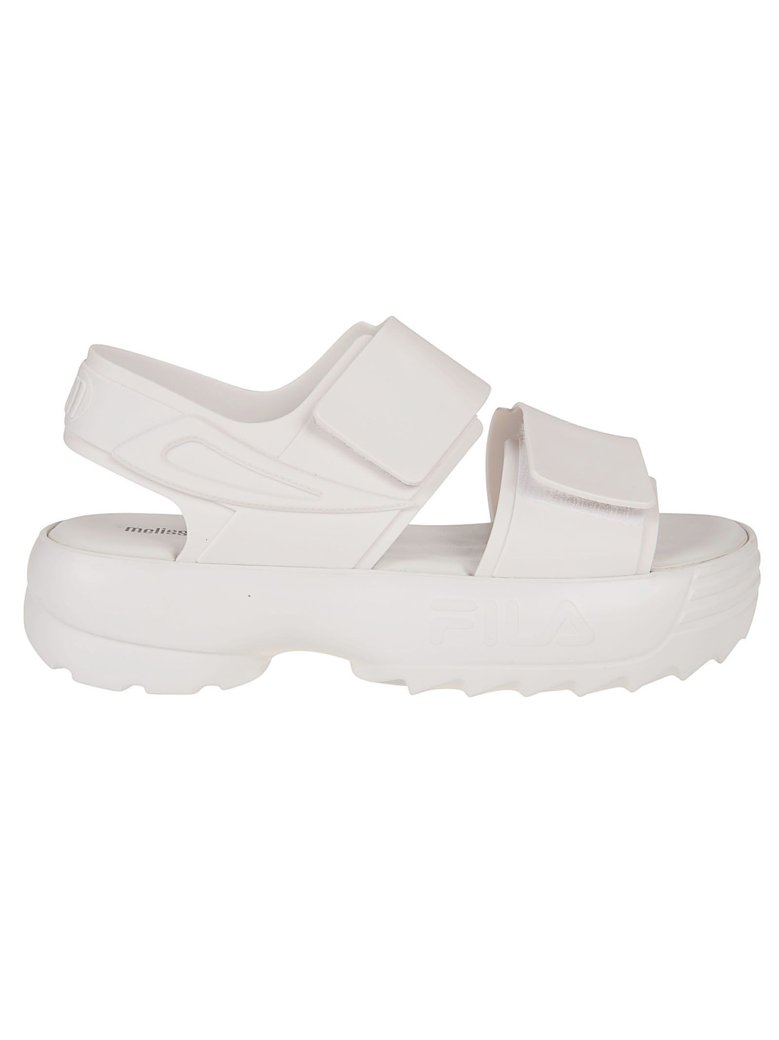 6ce2b23cee89 Melissa Melissa X Fila Classy Wedge Sandals - White - 10908832