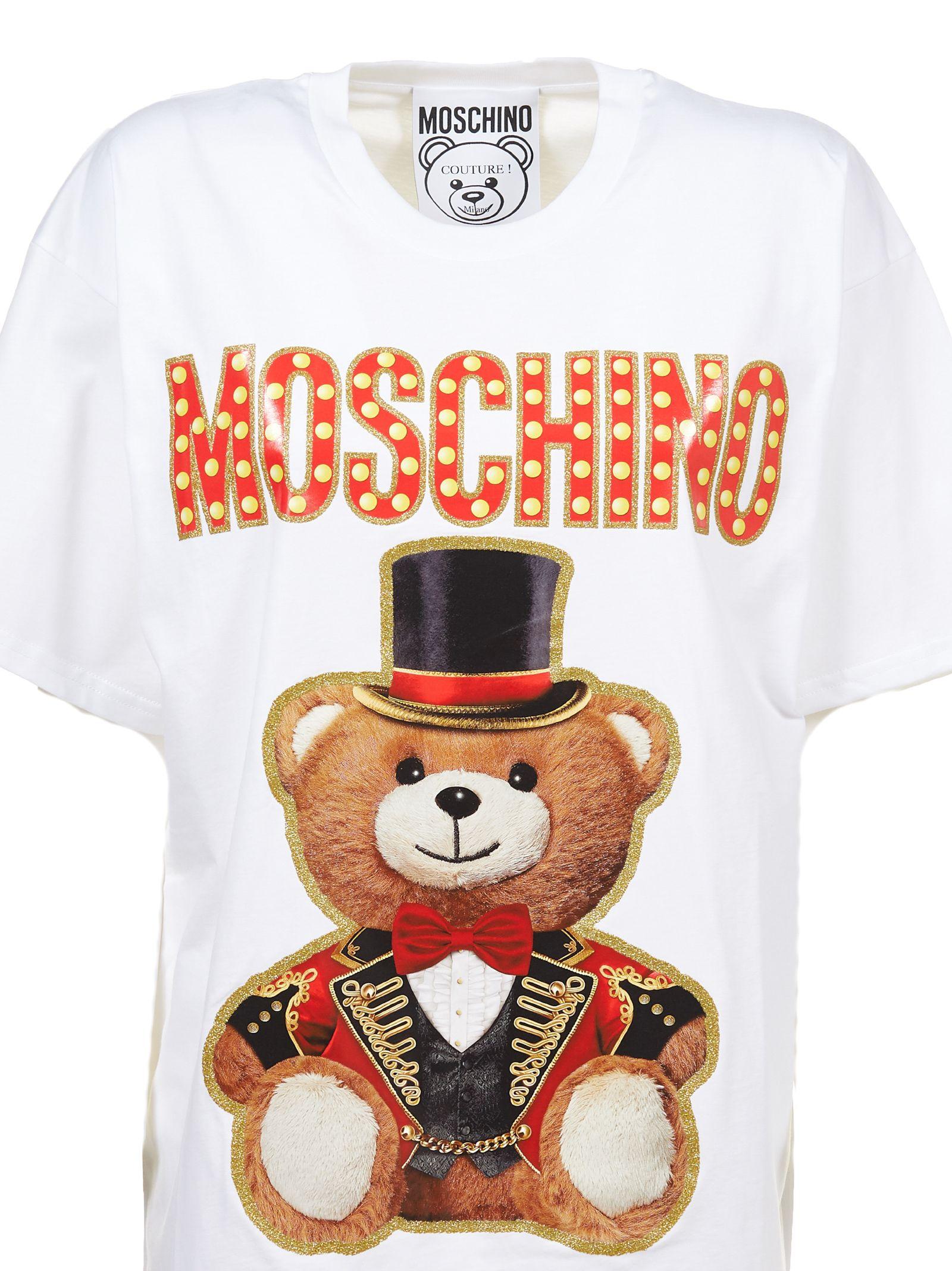 5b3d96d0 Moschino Moschino Circus Bear T-shirt - Bianco multicolor - 10817158 ...