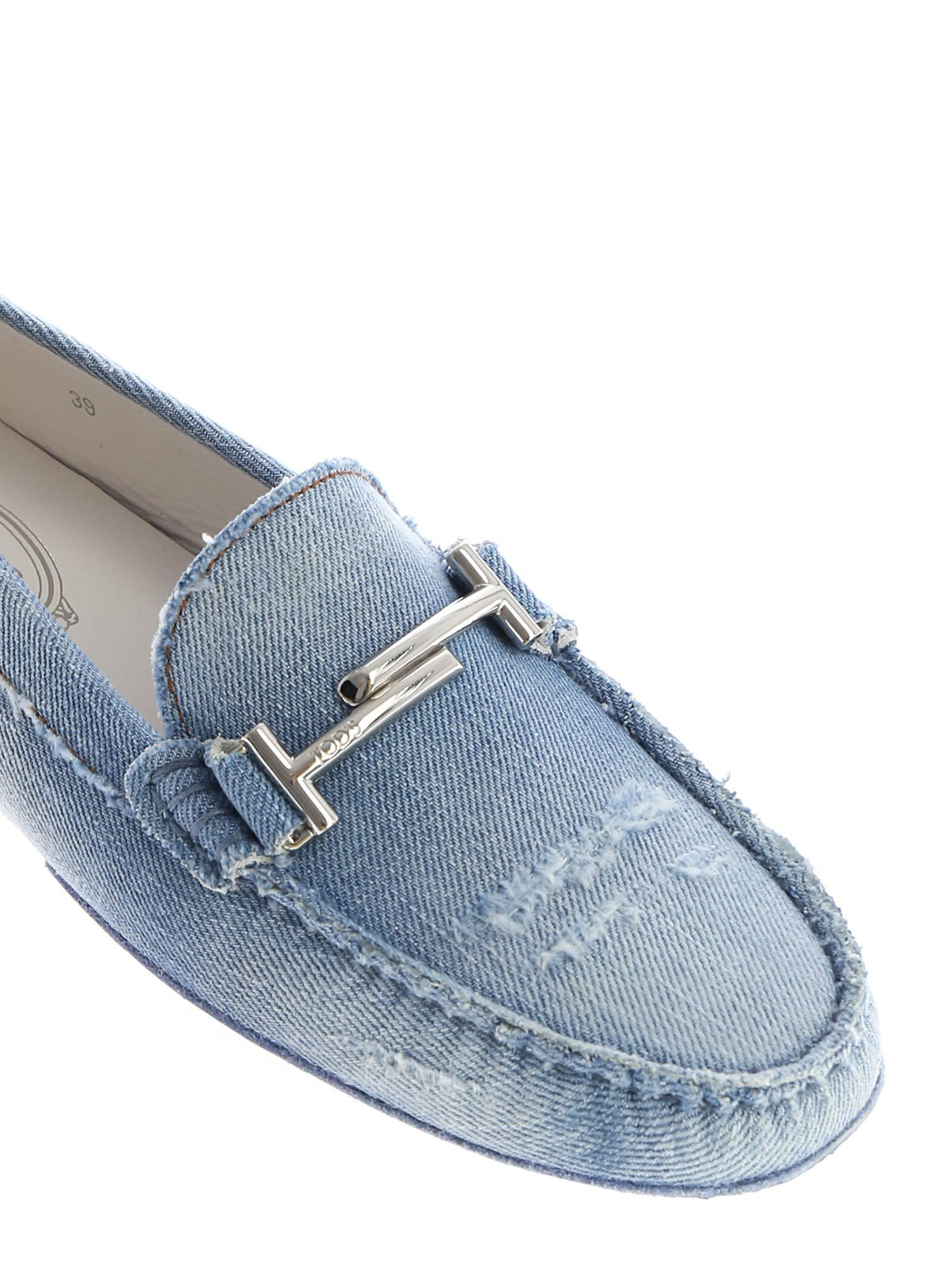 38c75a08c8a Tod s Tod s Double T Loafers - Blue - 10833202