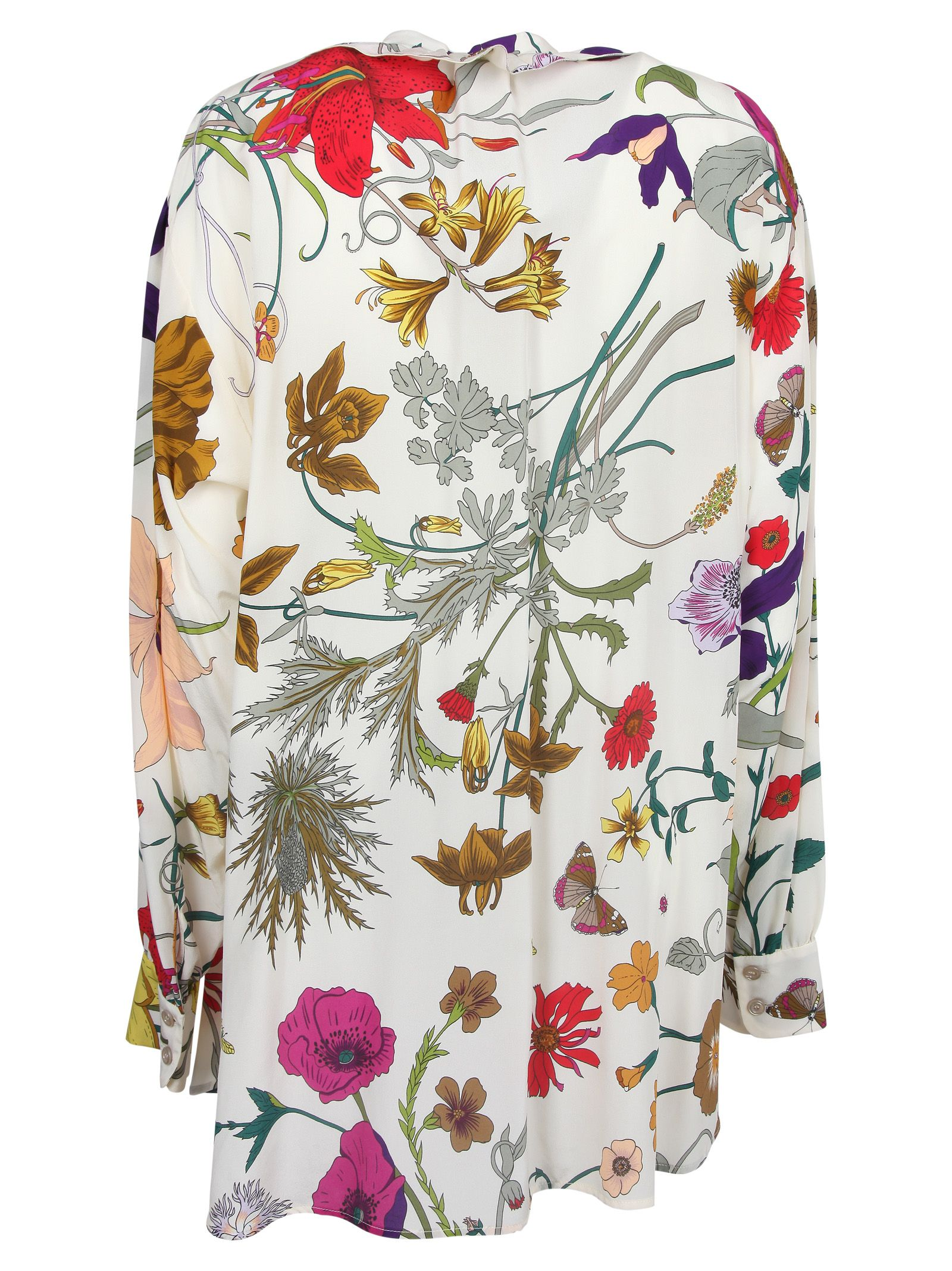 3bb29a57d155 Gucci Floral Blouse - Ivory Printed Gucci Floral Blouse - Ivory Printed