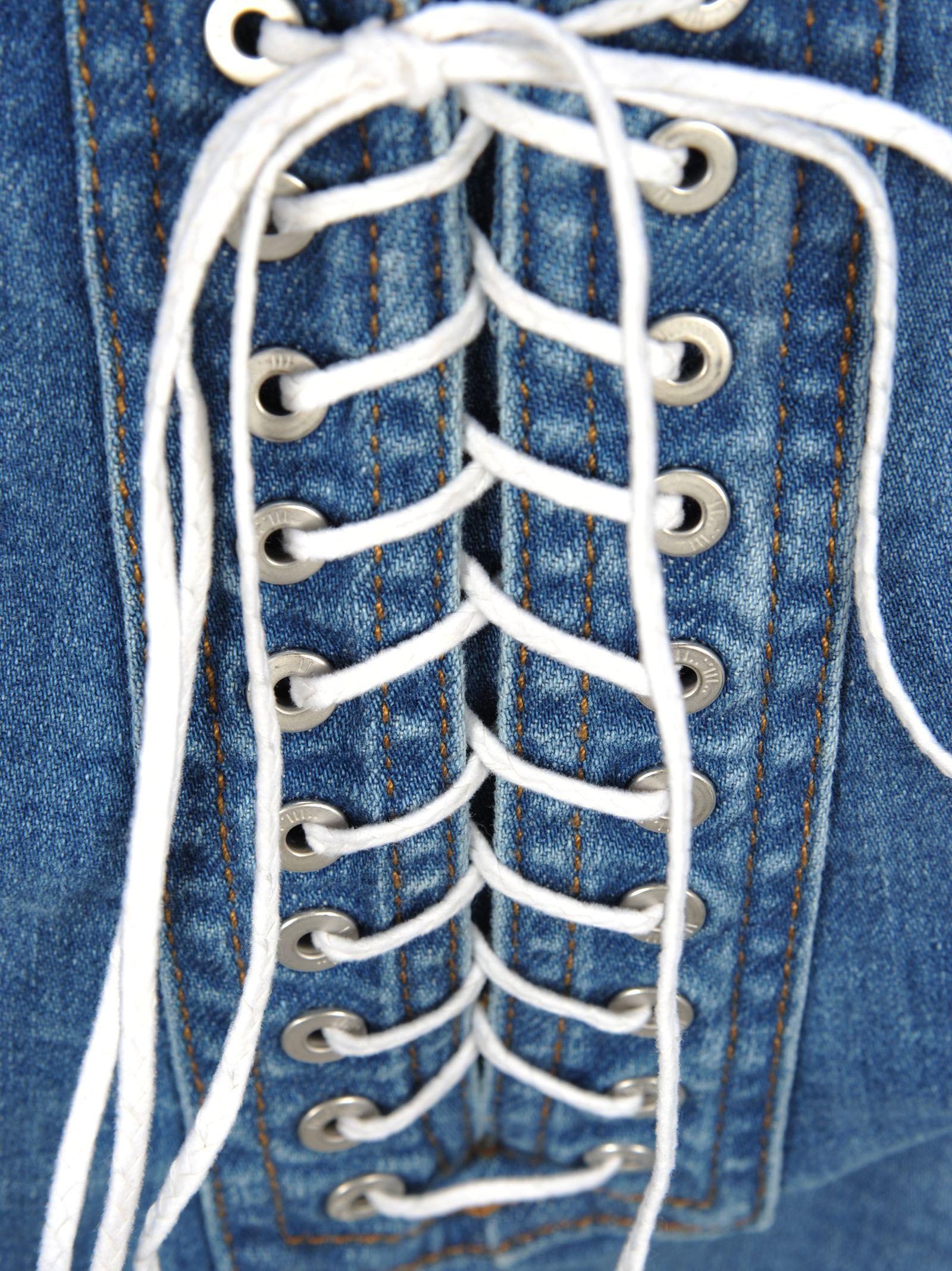 1e1f78c76a ... Ben Taverniti Unravel Project Unravel Unravel Project Lace-up Denim  Shorts - LIGHT BLUE