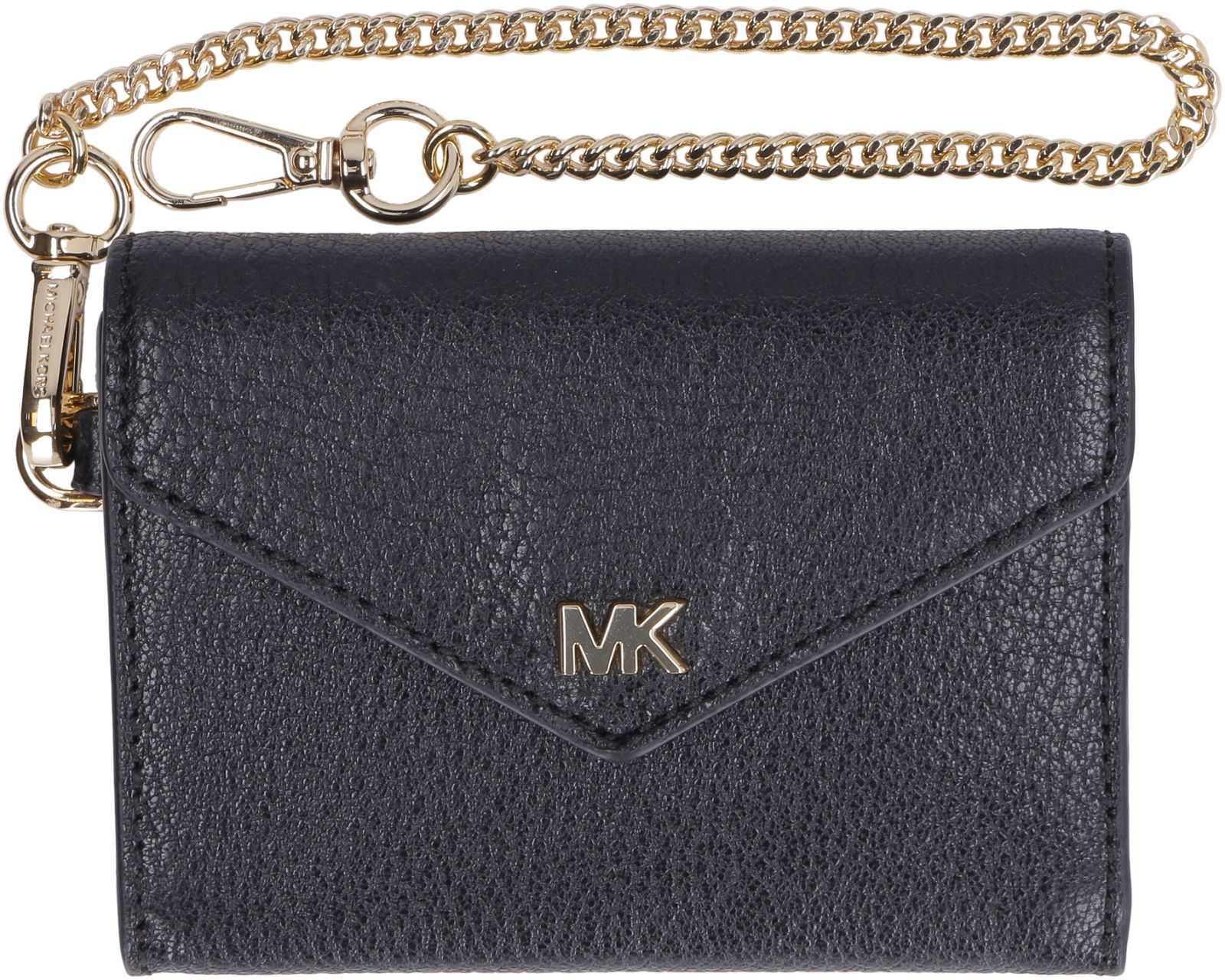 e9d6e6ad6bca91 ... Michael Kors Money Pieces Small Flap-over Leather Wallet - black ...