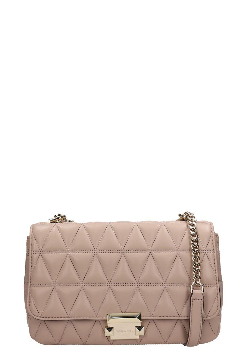 2742d9929494 Michael Kors Michael Kors Sloan Small Quilted-leather Shoulder Bag ...