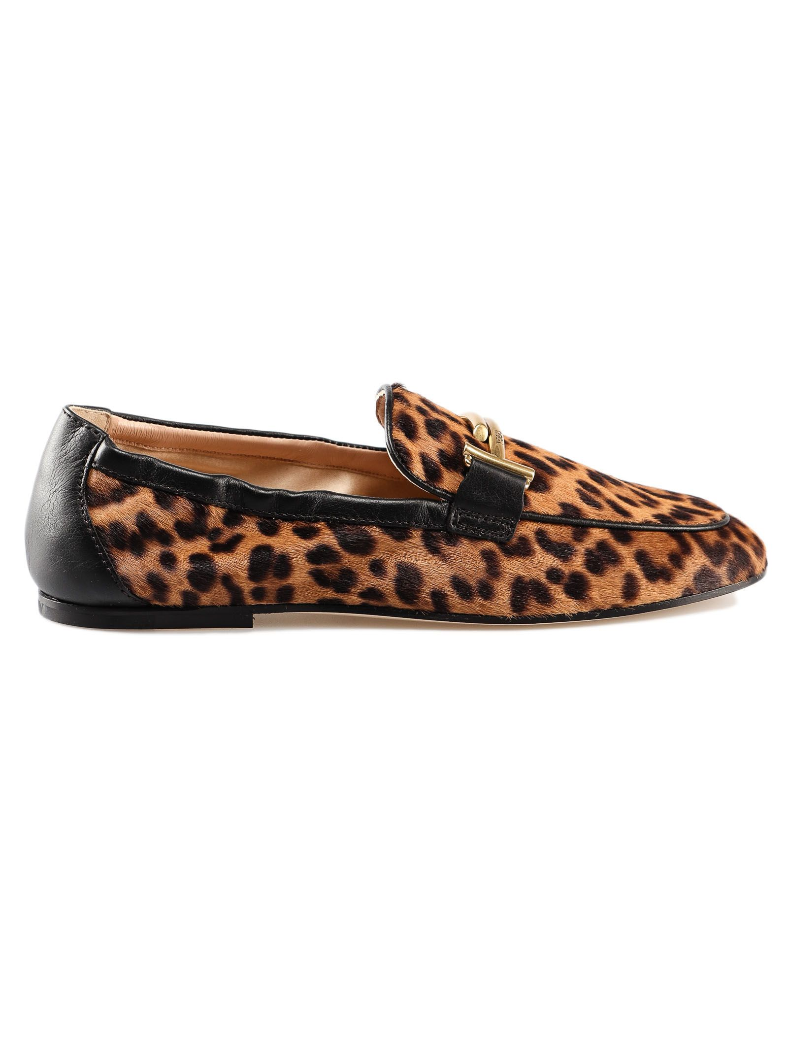 780781452022 Tod's Tod's Animal Print Loafers - Biscotto Nero - 10820848 | italist