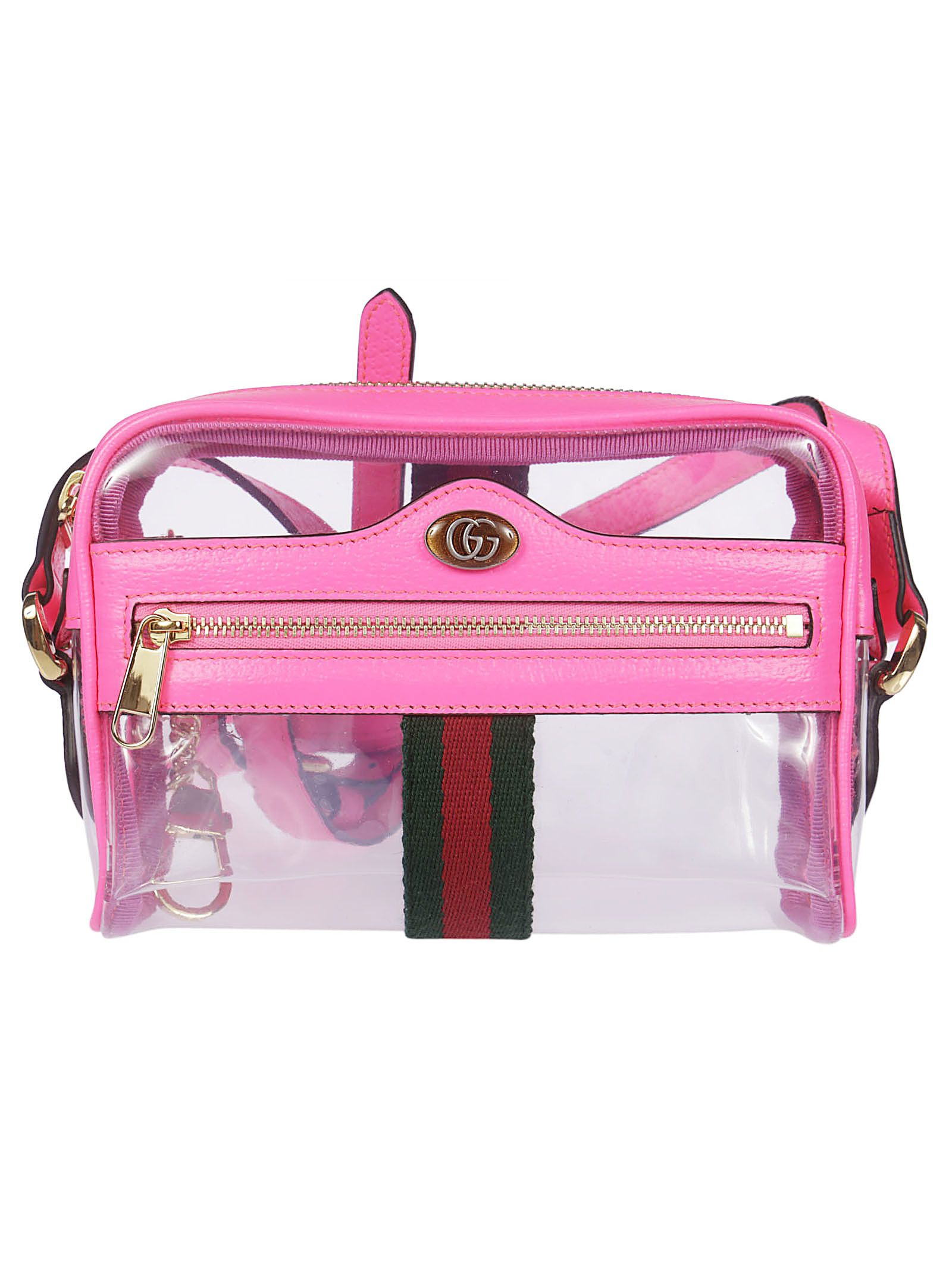 341bb80a1144 Gucci Gucci Ophidia Mini Transparent Shoulder Bag - Fuxia Fluo ...