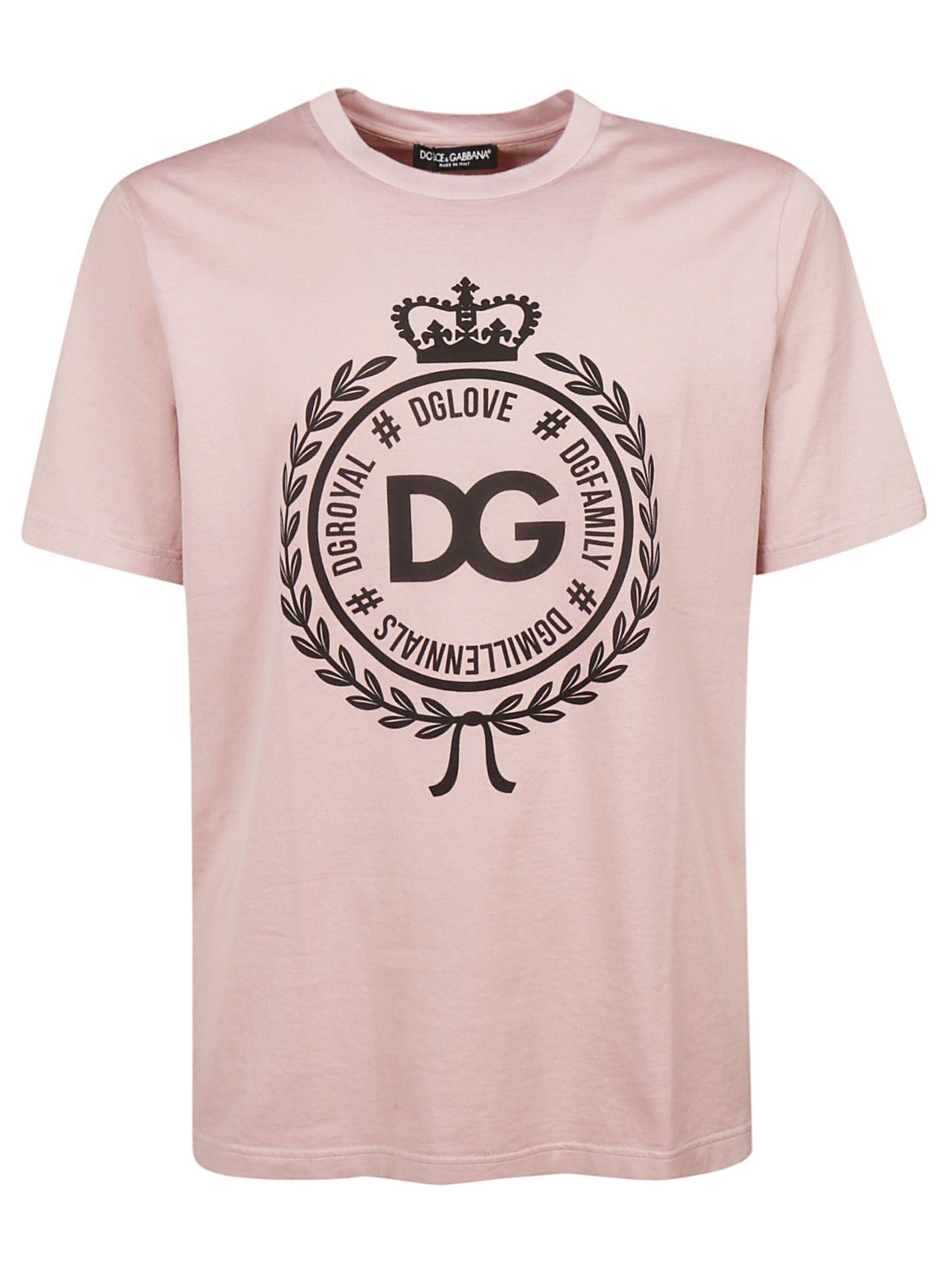 c4ed8b1f1add Dolce   Gabbana Dolce   Gabbana Dg Crest Logo T-shirt - Pink ...