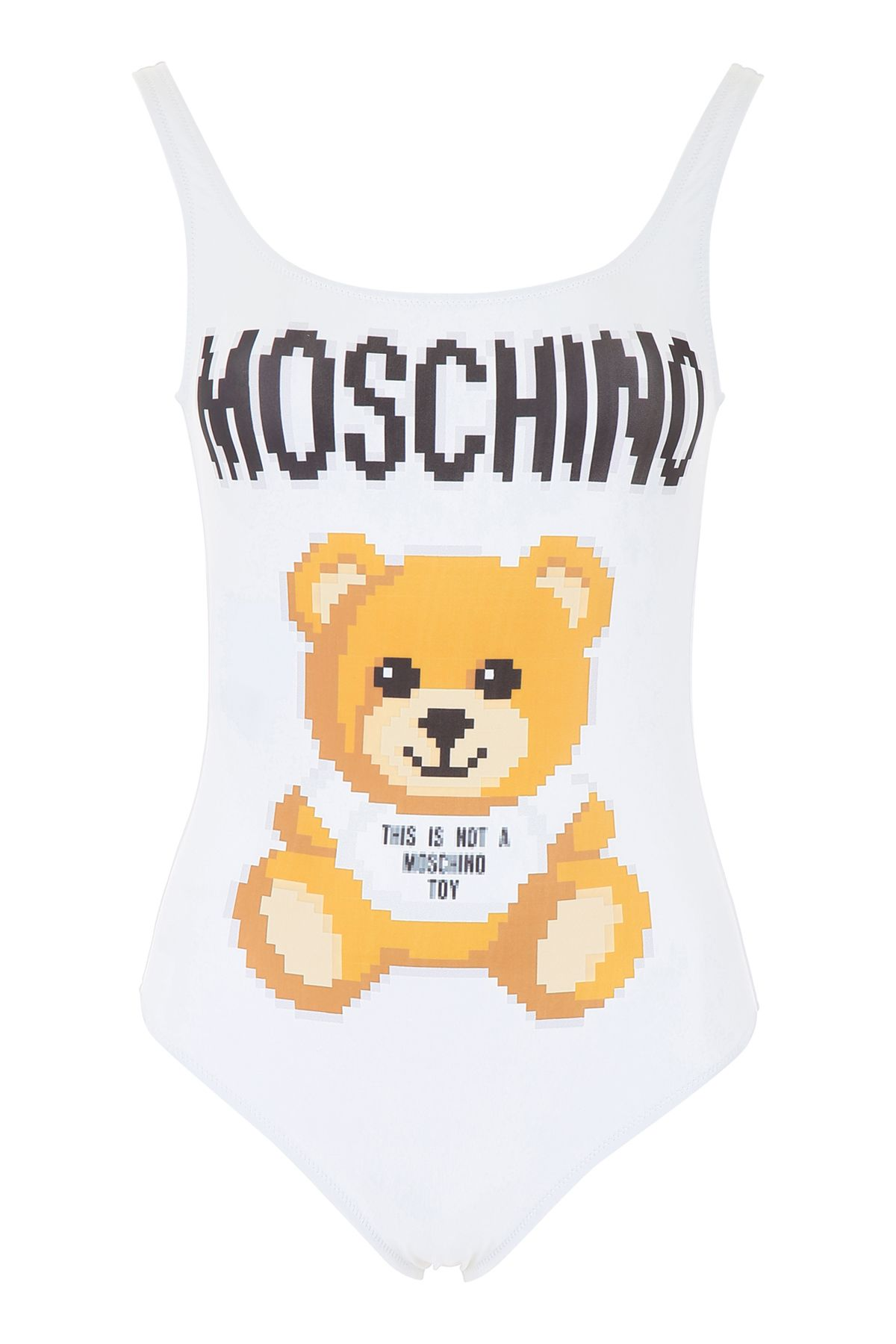 f6accb81f0bae Moschino Moschino Teddy Bear Swimsuit - FANTASIA BIANCO (White ...
