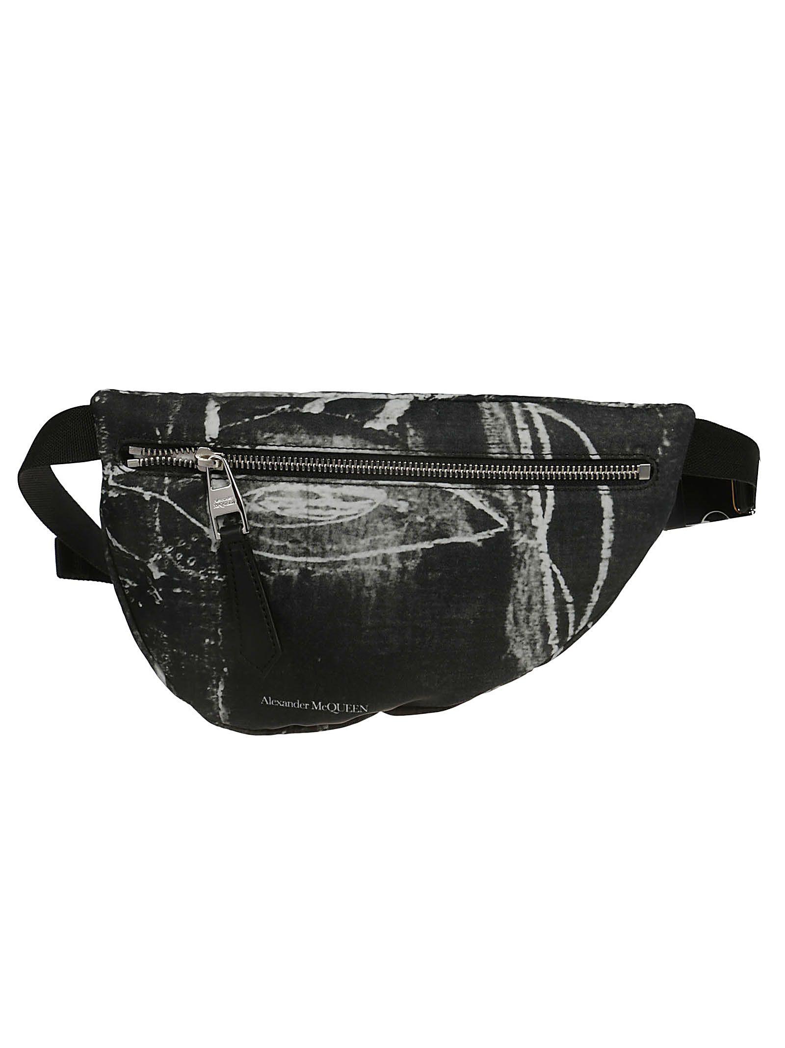 f716c233 Alexander McQueen Alexander Mcqueen Logo Belt Bag - Grey/white/black ...