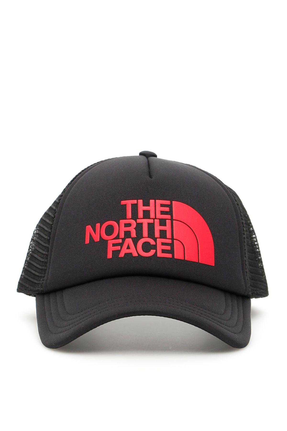 91f2cdb6030 The North Face The North Face Trucker Logo Cap - BLACK TNF