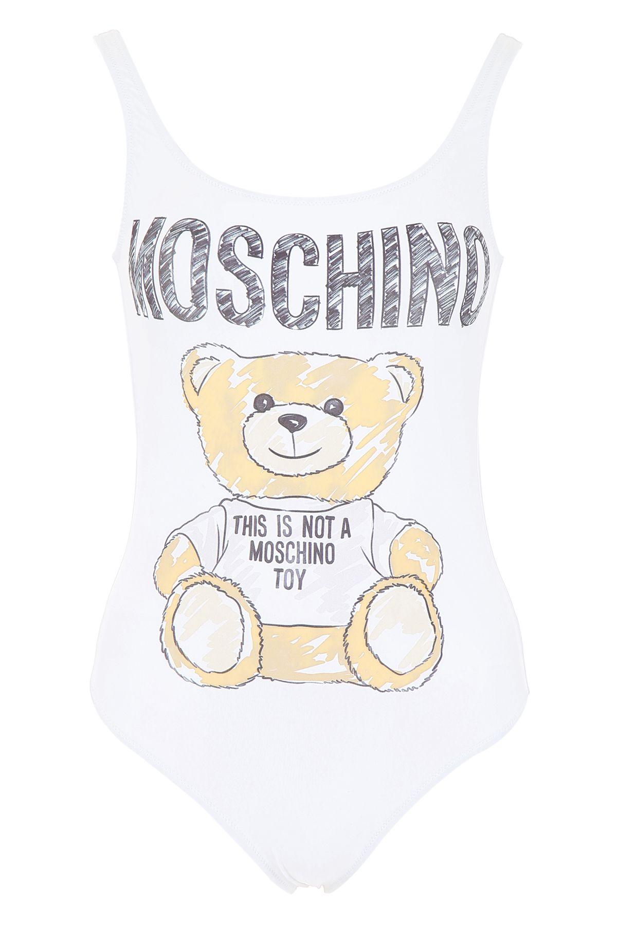 024a886486055 Moschino Moschino Teddy Bear Swimsuit - WHITE (White) - 10929395 ...