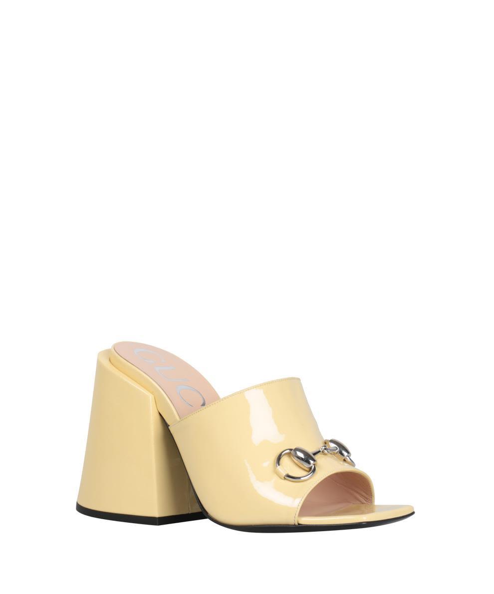 5b3ed2ffbea0 Gucci Patent Leather Sandal - BIANCO Gucci Patent Leather Sandal - BIANCO  ...