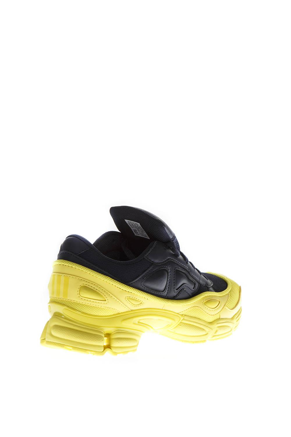 on sale dbb0d 6e639 ... Adidas By Raf Simons Rs Ozweego Yellow  Navy Blue Leather Sneakers -  Navyyellow ...