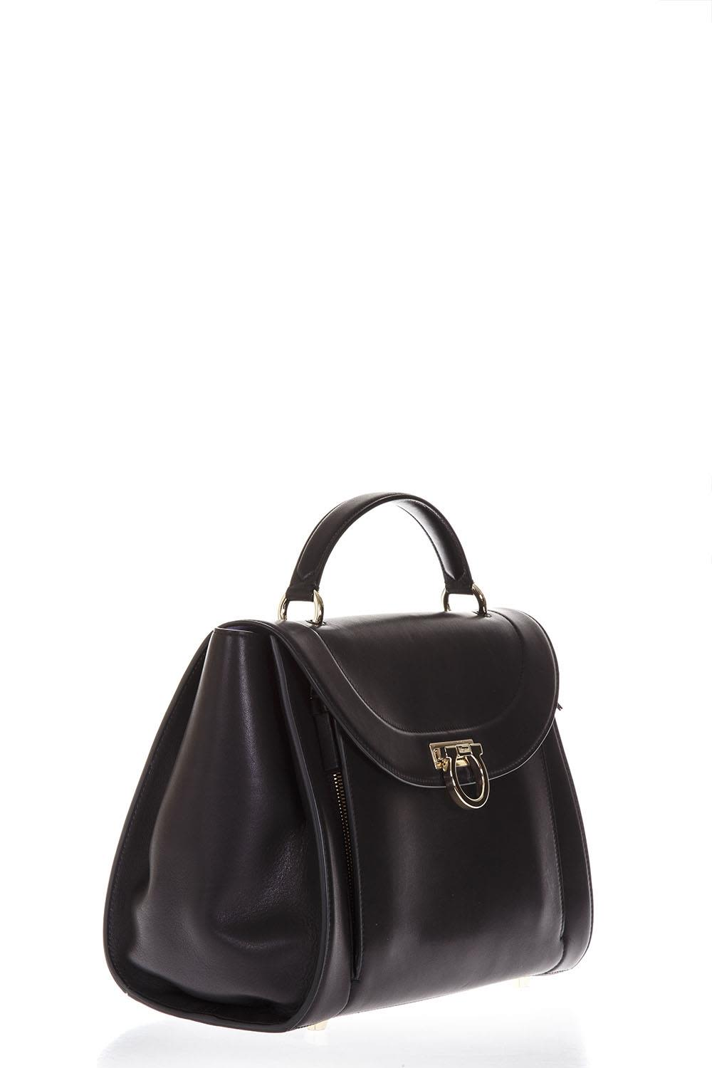 aad29f78fb43 Salvatore Ferragamo Salvatore Ferragamo Sofia Rainbow Black Leather ...