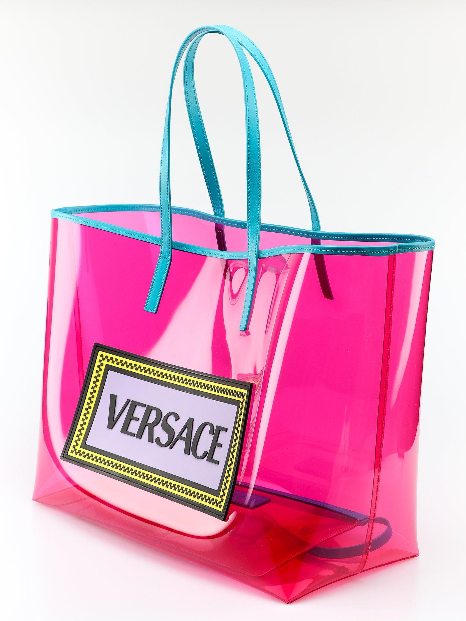 ba92b6e42f76 Versace Versace Clear Vinyl Tote - Mt Rosa Fluo Multicolor ...