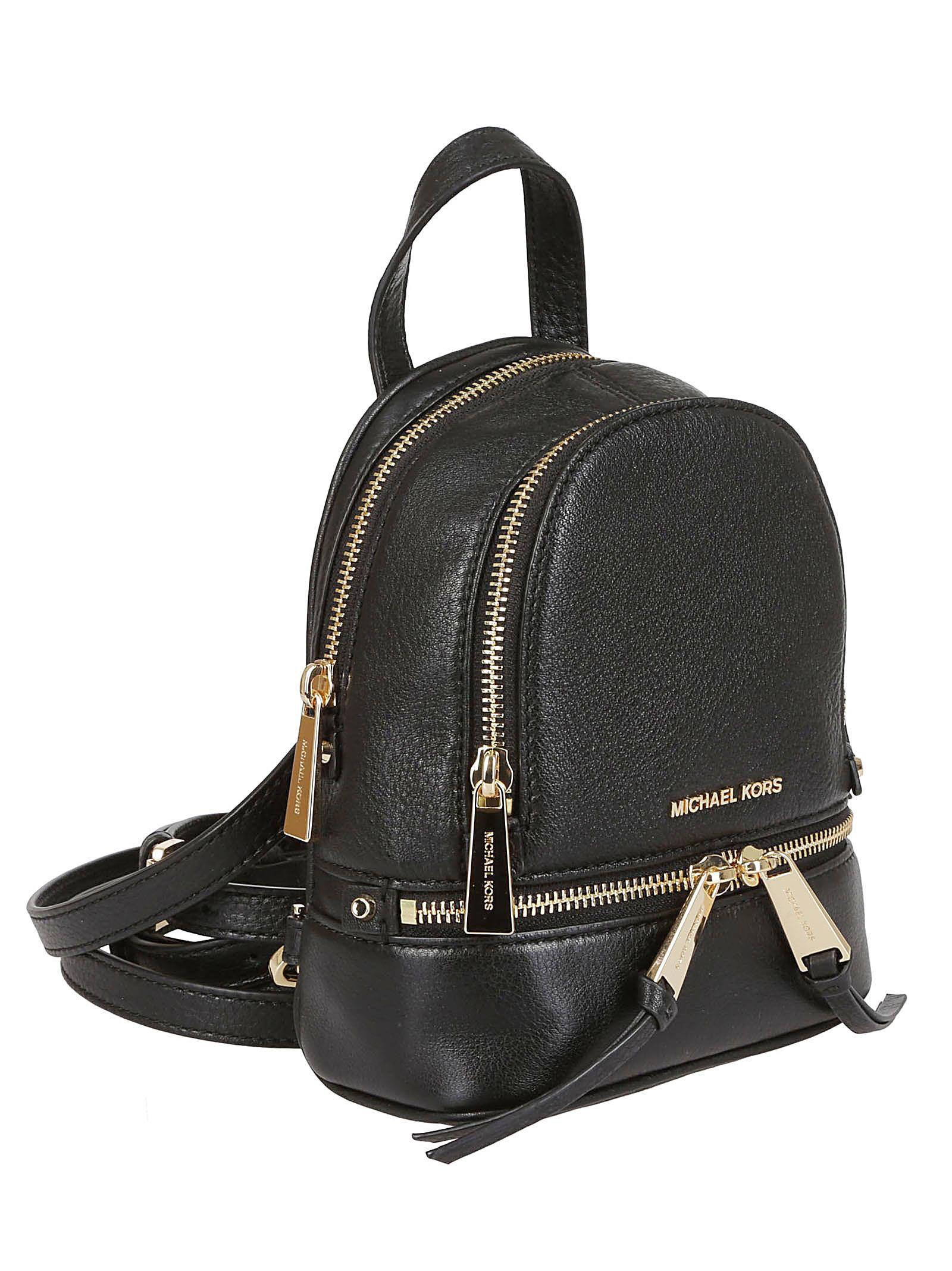 da61e5f56bf9 Michael Kors Michael Kors Rhea Mini Backpack - Nero/oro - 10815979 ...