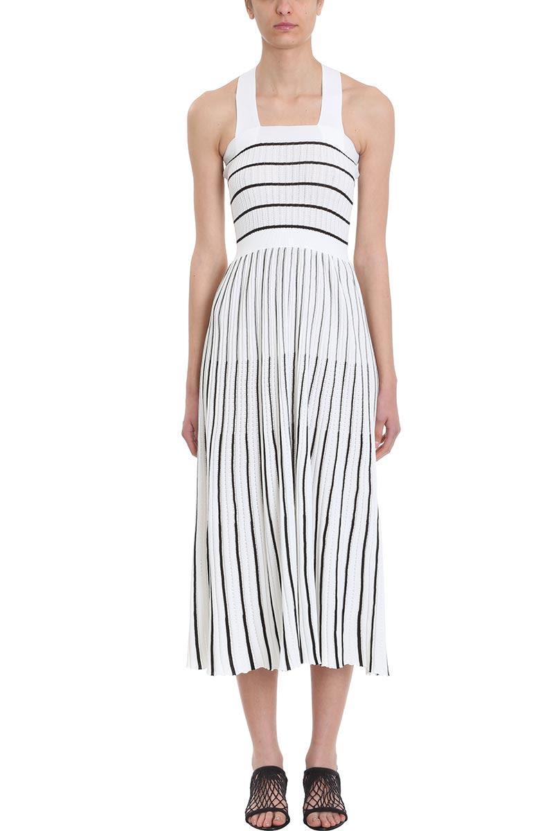 4df618a853a Sonia Rykiel Sonia Rykiel Striped Midi Knit Dress - White - 10922187 ...