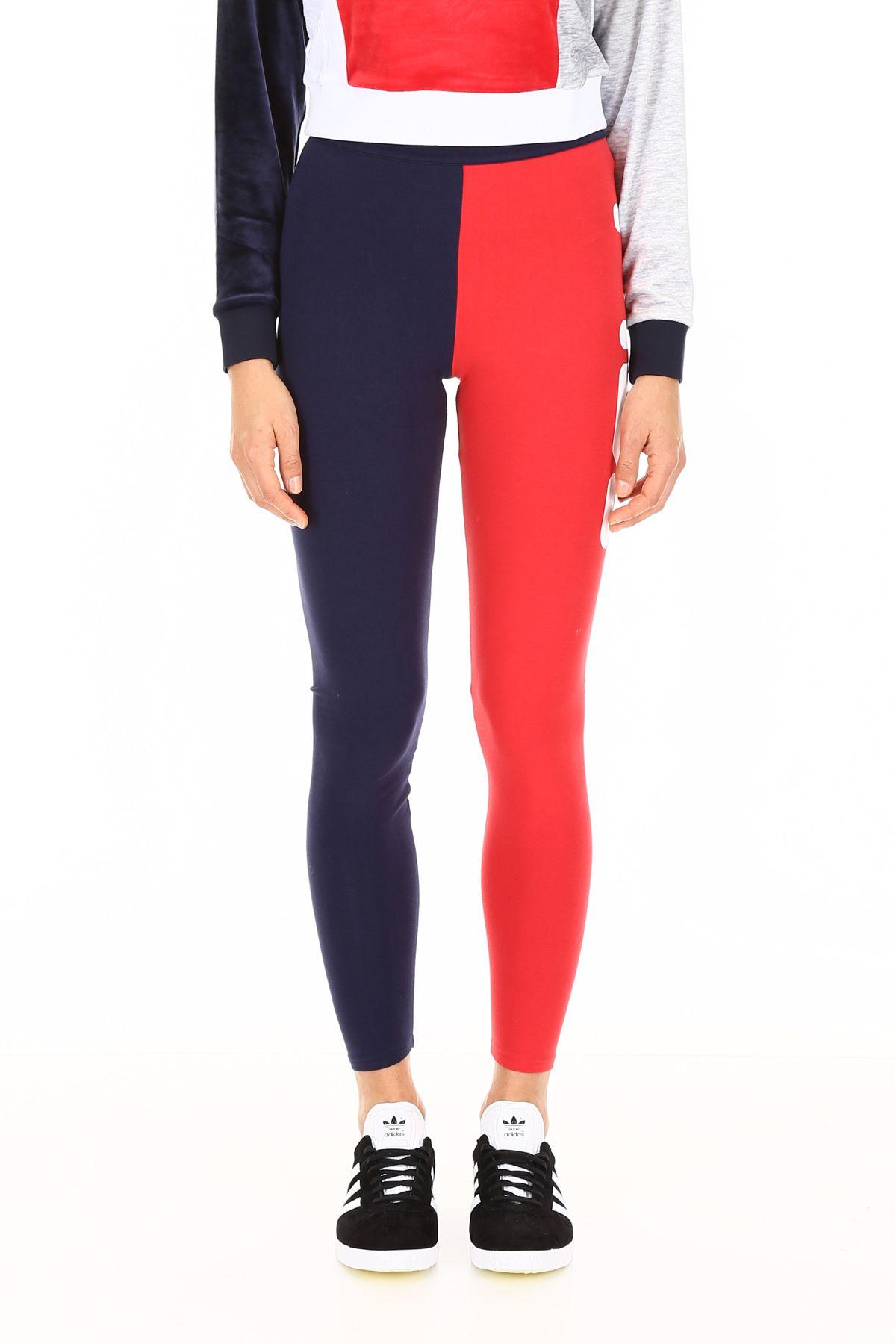 c5aaa0fd27385 ... Fila Bicolor Leggings With Logo Print - PEACOAT RED (Blue) ...