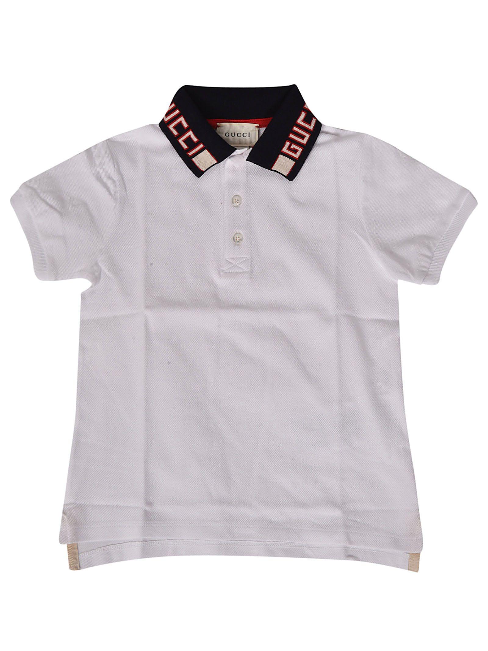 49c32e9ba Gucci Gucci Logo Collar Polo Shirt - White - 10913752 | italist