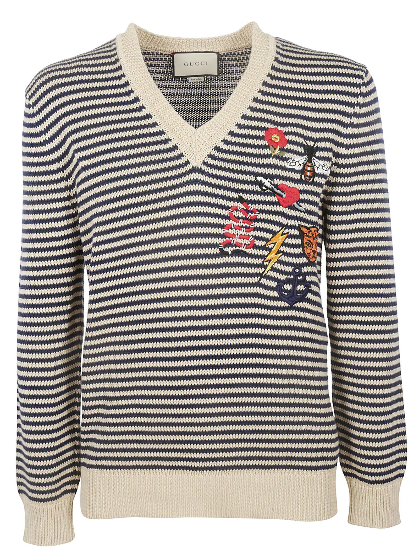 1a71c6bf42e Gucci Gucci Striped Sweater - Multicolor - 10924212