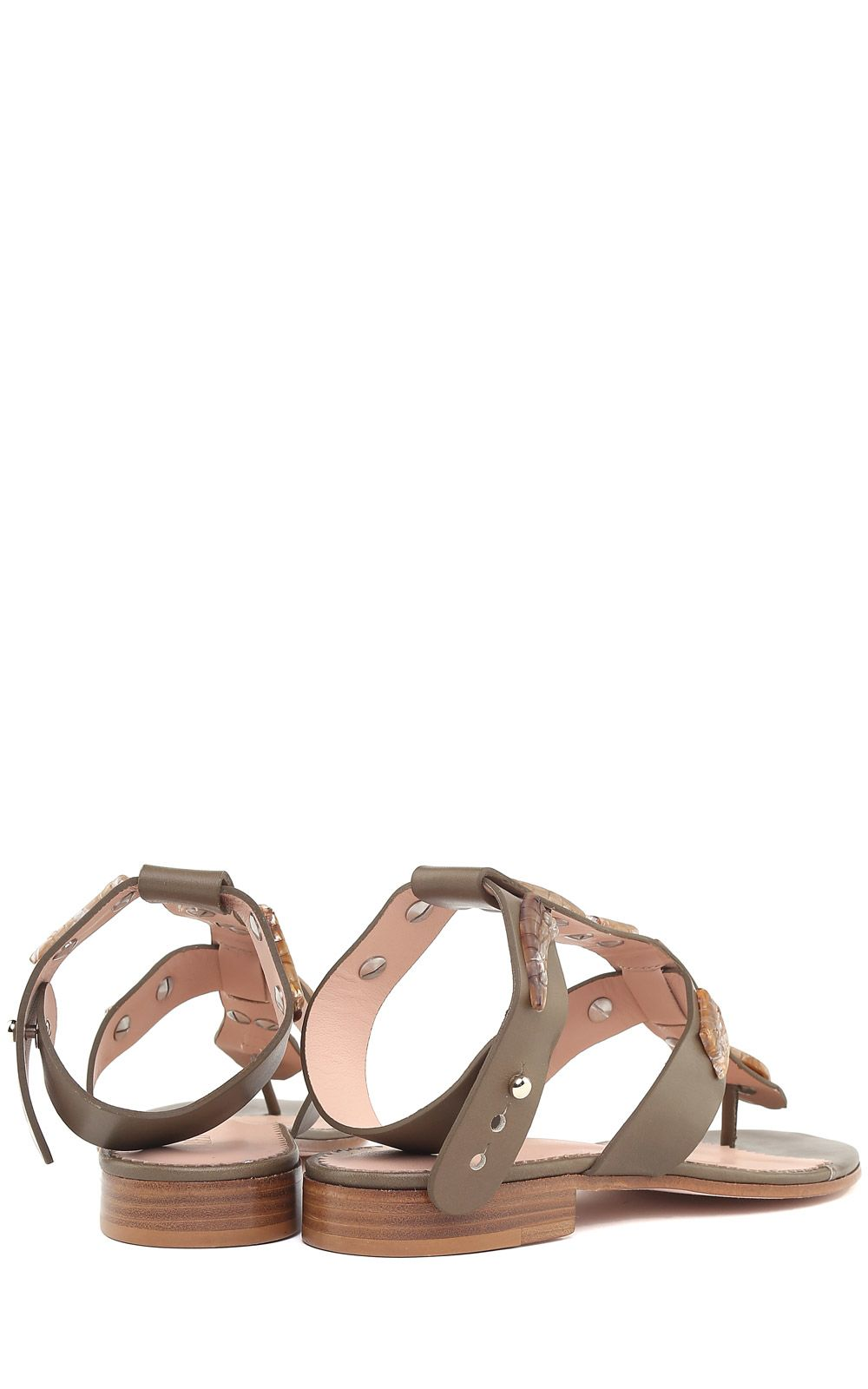 aa666fd23 RED Valentino RED Valentino Sin Snake-embellished Leather Sandals ...