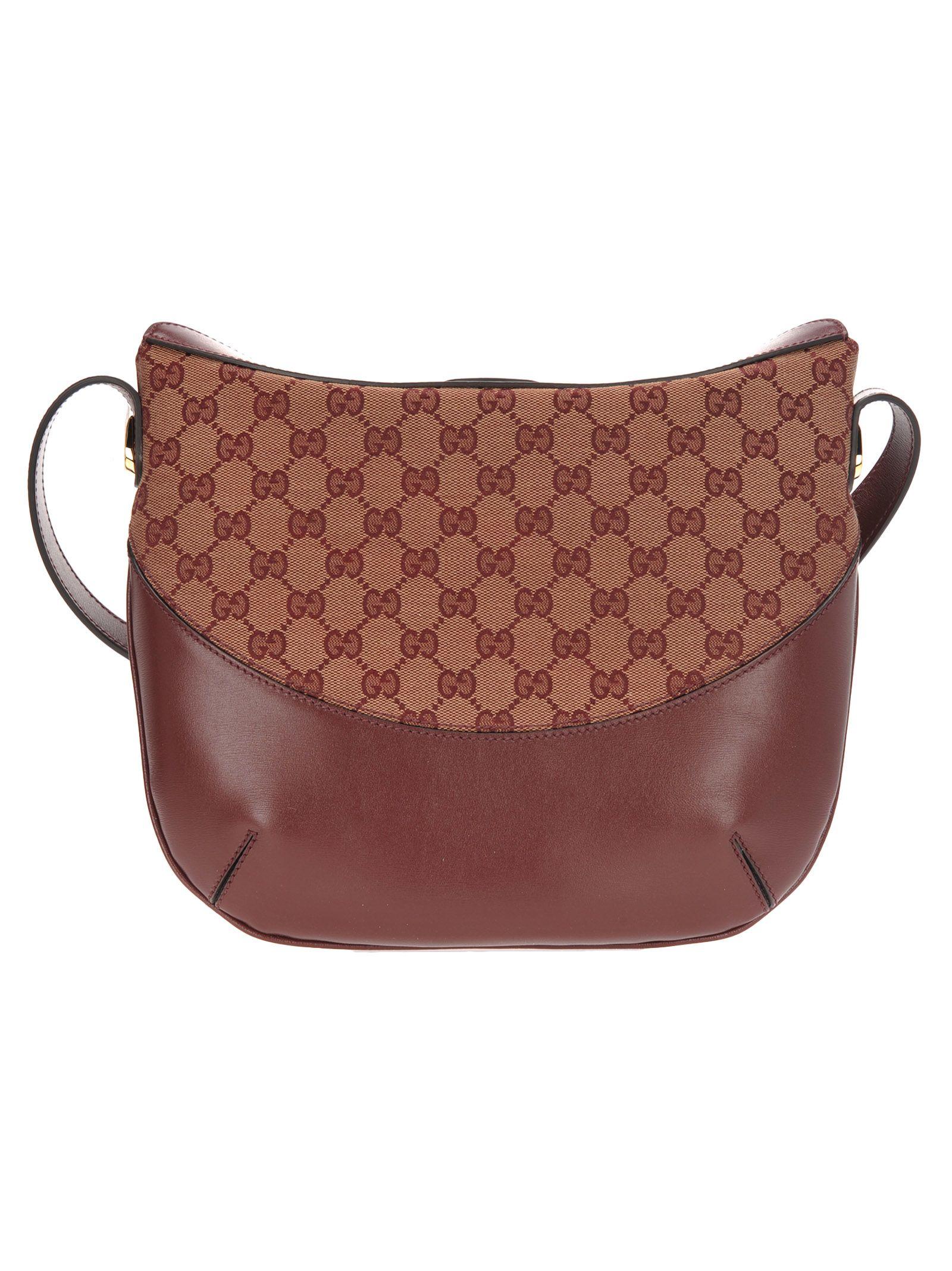 e2edd41caae9f0 Gucci Gucci Gucci Arli Gg Medium Shoulder Bag - BEIGE/BORDEAUX ...