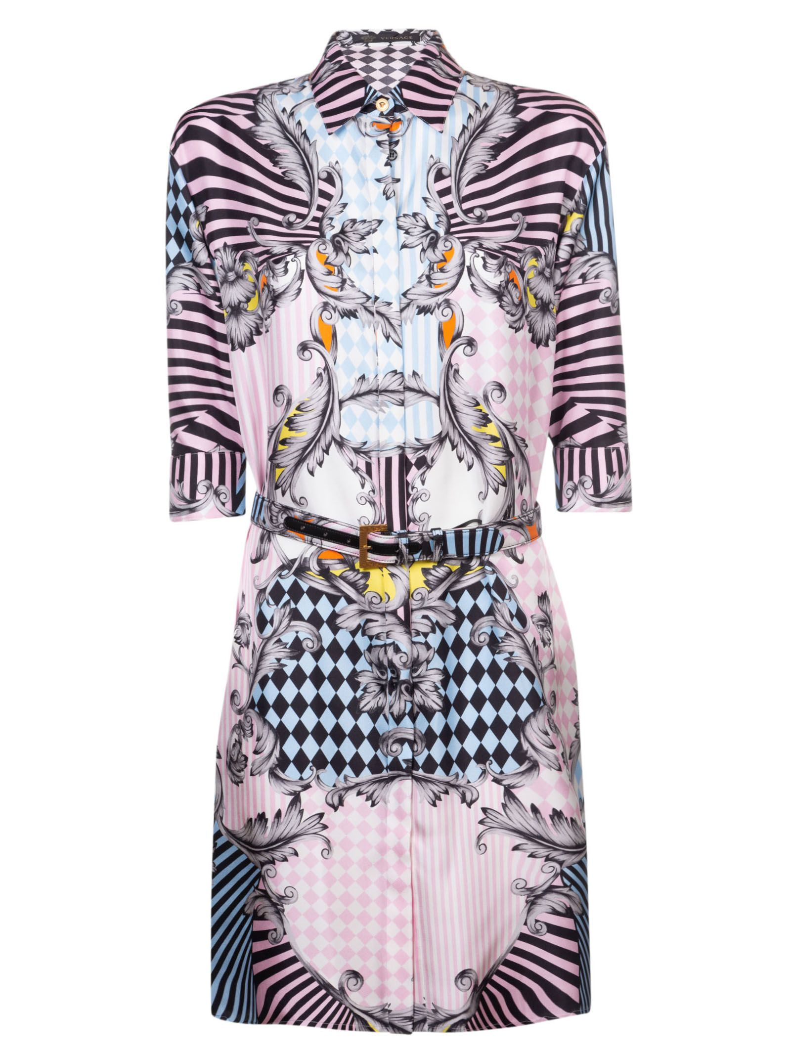 8863ac37865 Versace Versace Printed Shirt Dress - Multicolor - 10698808